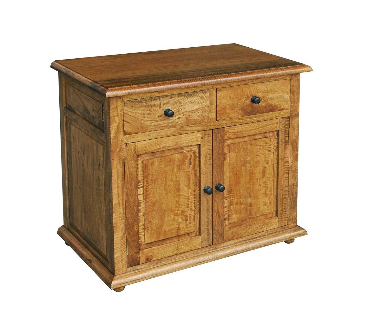 Asian Solid Mango Wood Small 2 Door Sideboard | Oak Furniture Uk throughout Mango Wood 2-Door/2-Drawer Sideboards (Image 4 of 30)