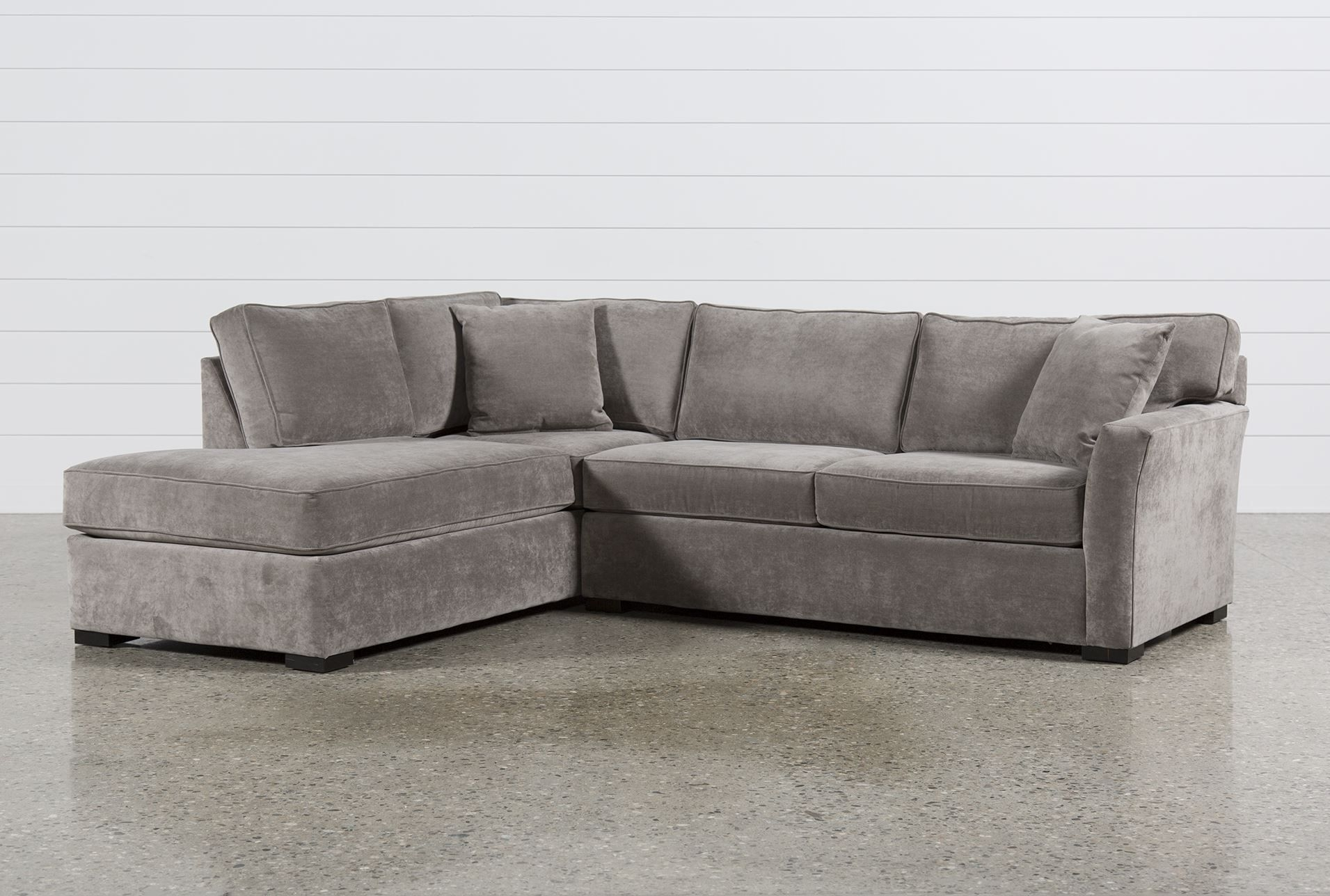 Aspen 2 Piece Sectional W/laf Chaise, Grey, Sofas | Aspen And Apartments pertaining to Delano Smoke 3 Piece Sectionals (Image 4 of 30)