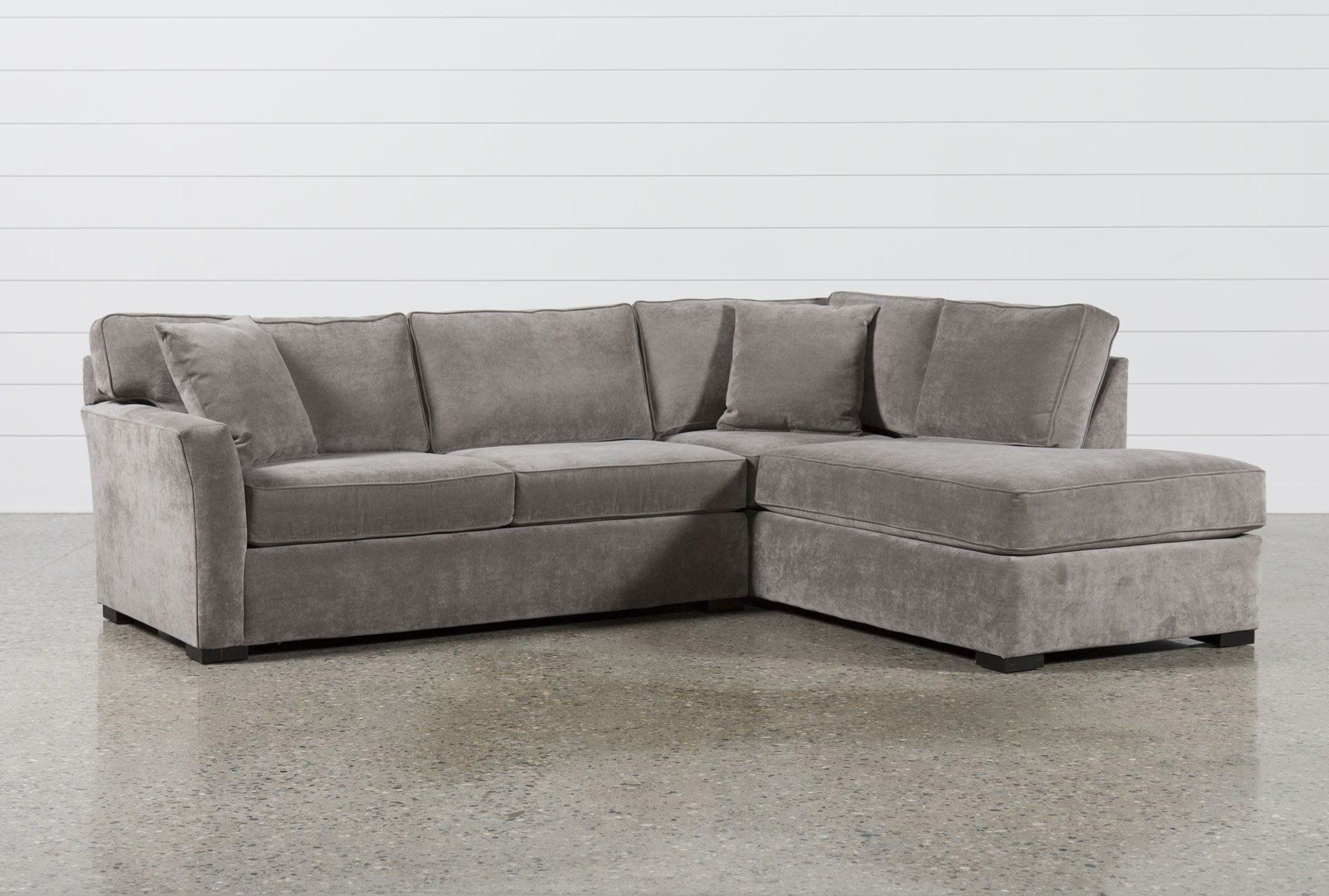 Aspen 2 Piece Sectional W/raf Chaise, Grey, Sofas | Upholstery, Full with regard to Taren Reversible Sofa/chaise Sleeper Sectionals With Storage Ottoman (Image 2 of 30)