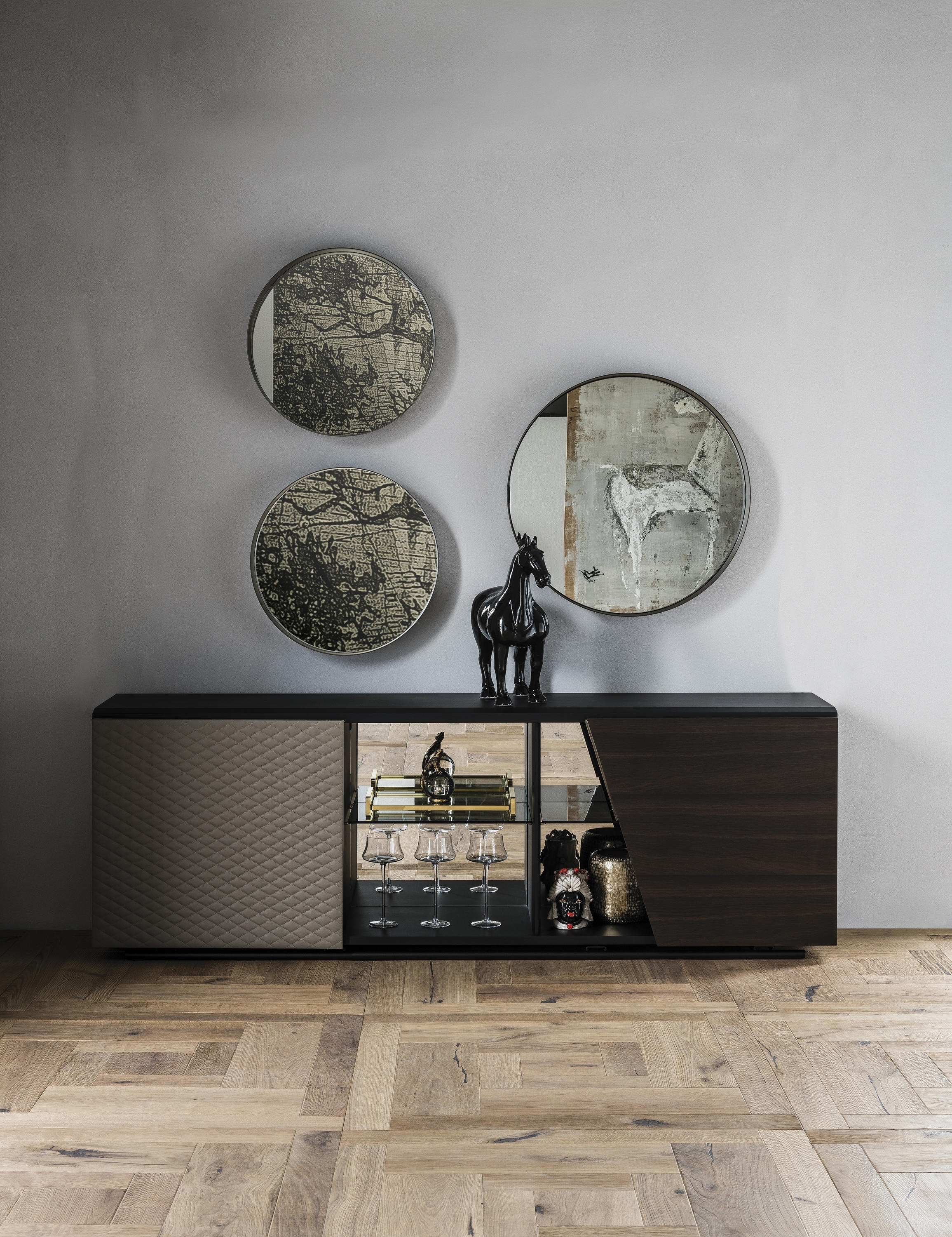 Aston - Sideboards From Cattelan Italia | Architonic intended for Black Burnt Oak Sideboards (Image 4 of 30)