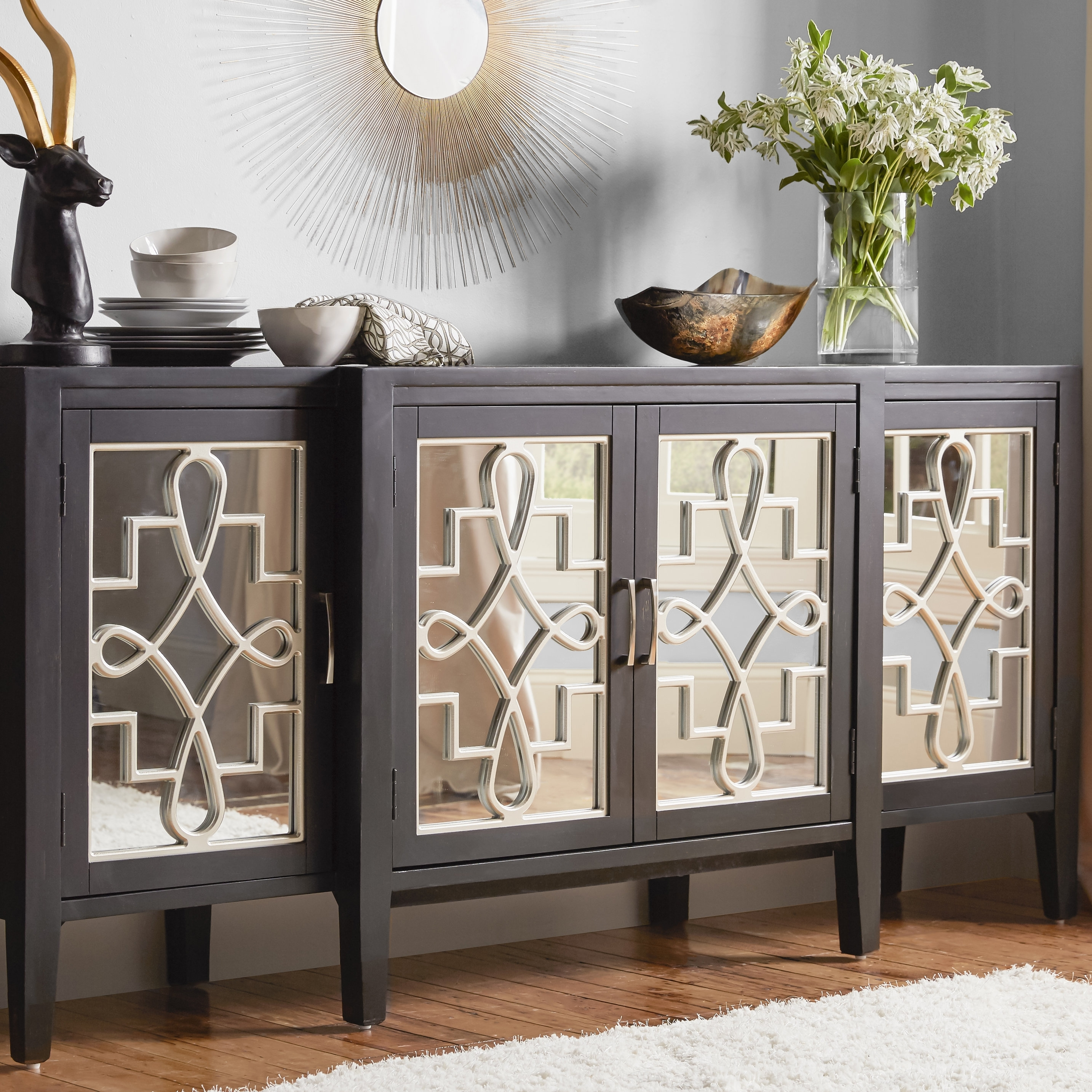 Astoria Grand Beesley Sideboard & Reviews | Wayfair pertaining to 2-Door Mirror Front Sideboards (Image 4 of 30)