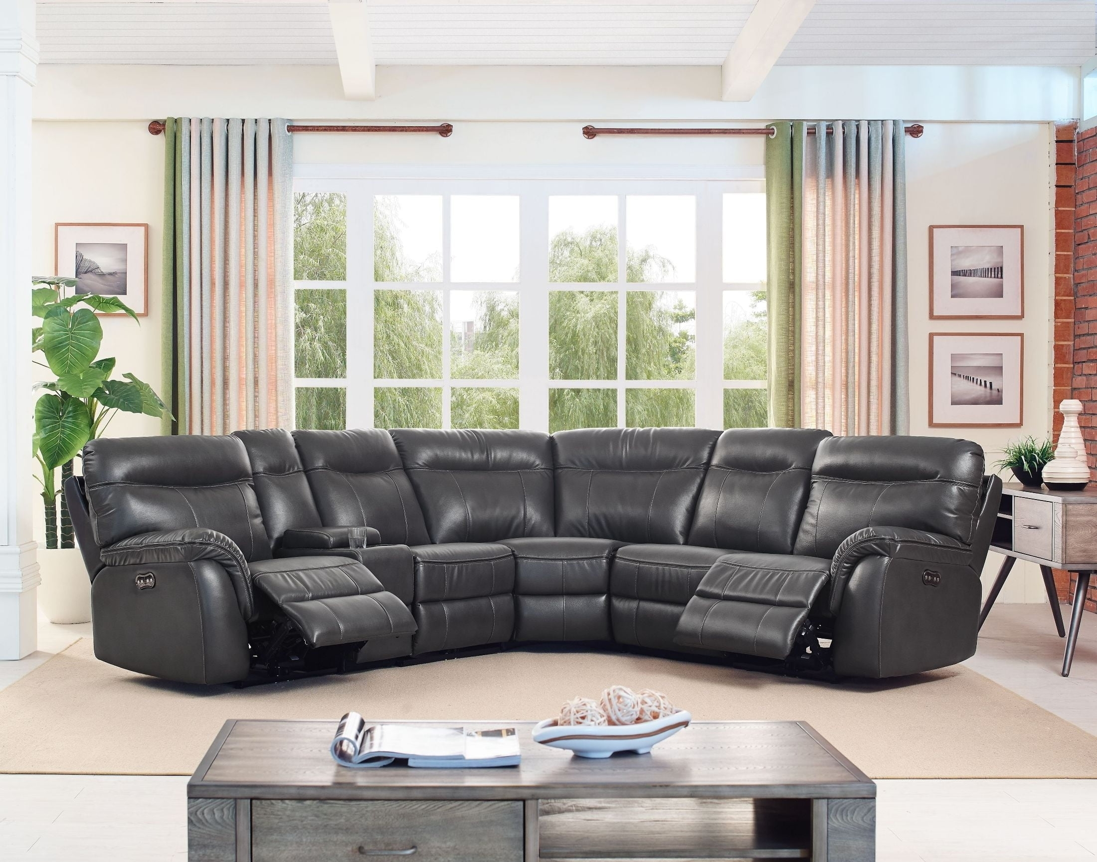 Atlas Saxton Grey Sectional From New Classic | Coleman Furniture throughout Turdur 3 Piece Sectionals With Laf Loveseat (Image 3 of 30)