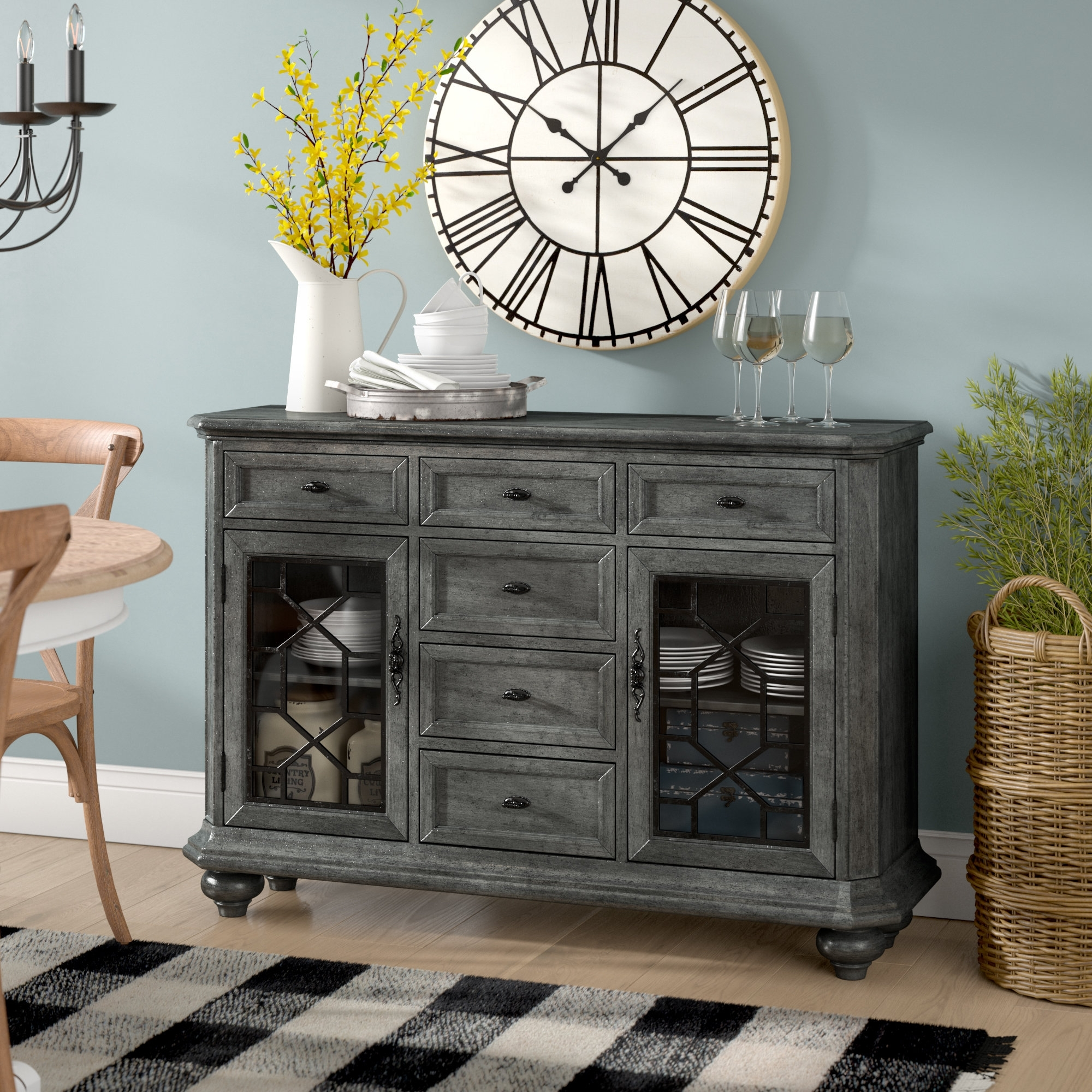 August Grove Concetta Sideboard & Reviews | Wayfair regarding Iron Pine Sideboards (Image 3 of 30)