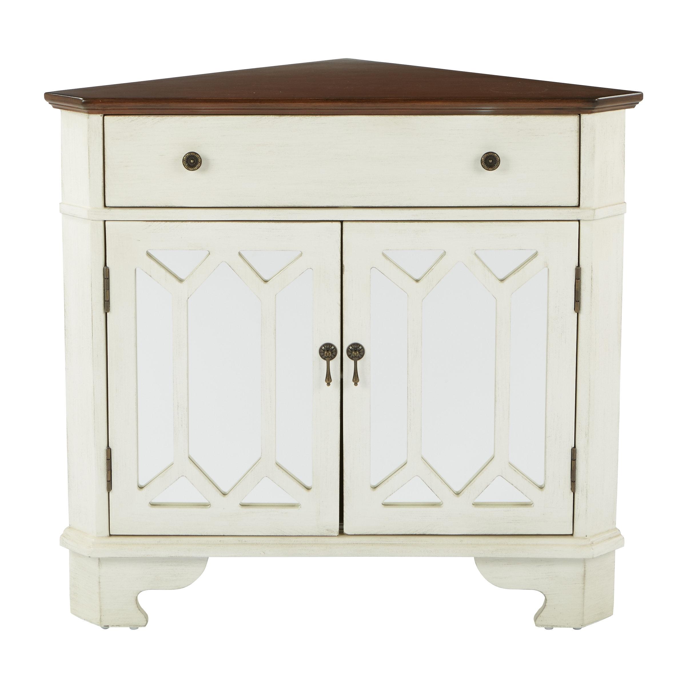 August Grove Hardyston Corner Storage 1 Drawer 2 Door Accent Cabinet with regard to Burn Tan Finish 2-Door Sideboards (Image 1 of 30)