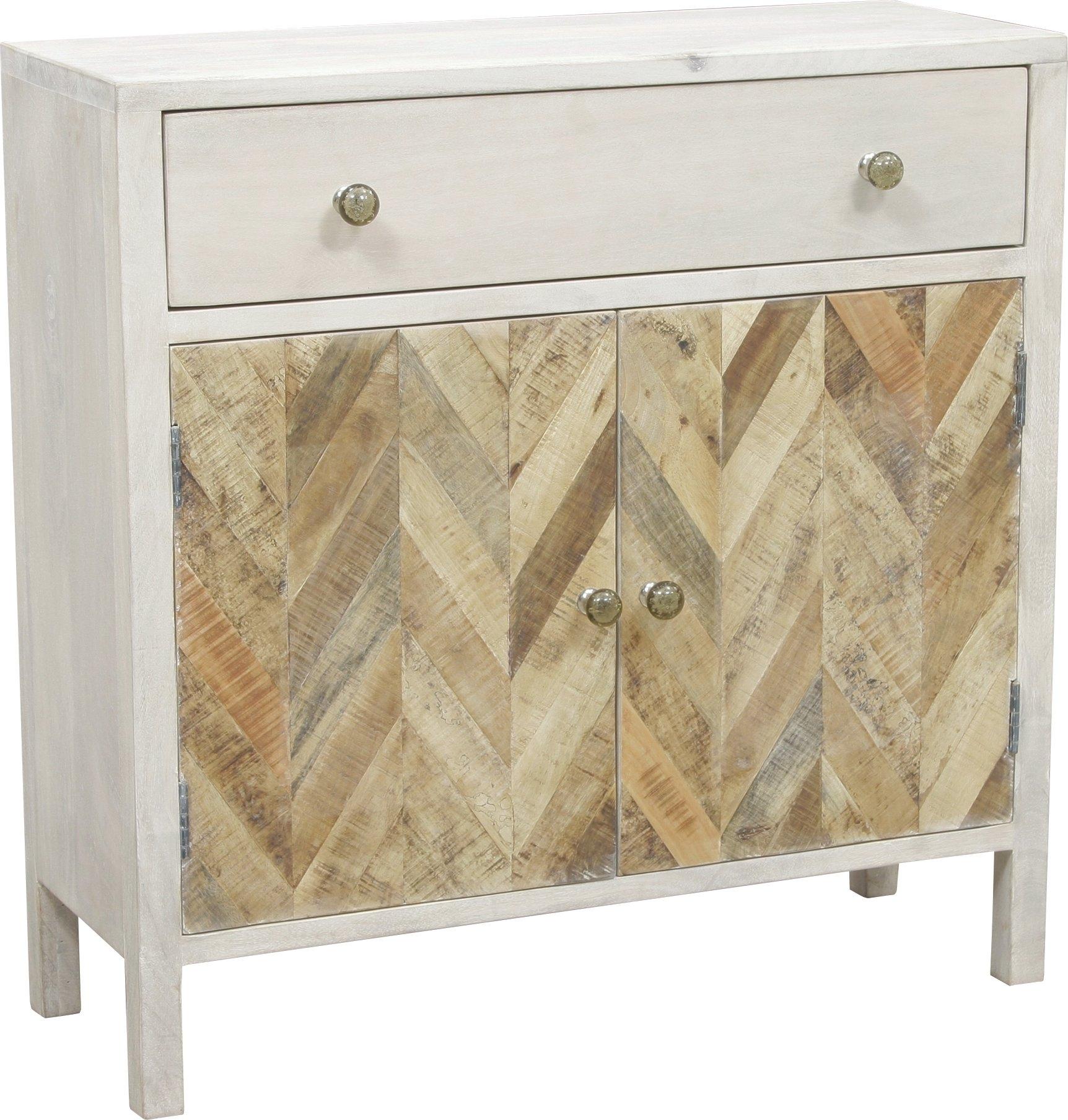 August Grove Islemade 1 Drawer 2 Door Cabinet   Wayfair regarding Burn Tan Finish 2-Door Sideboards (Image 2 of 30)