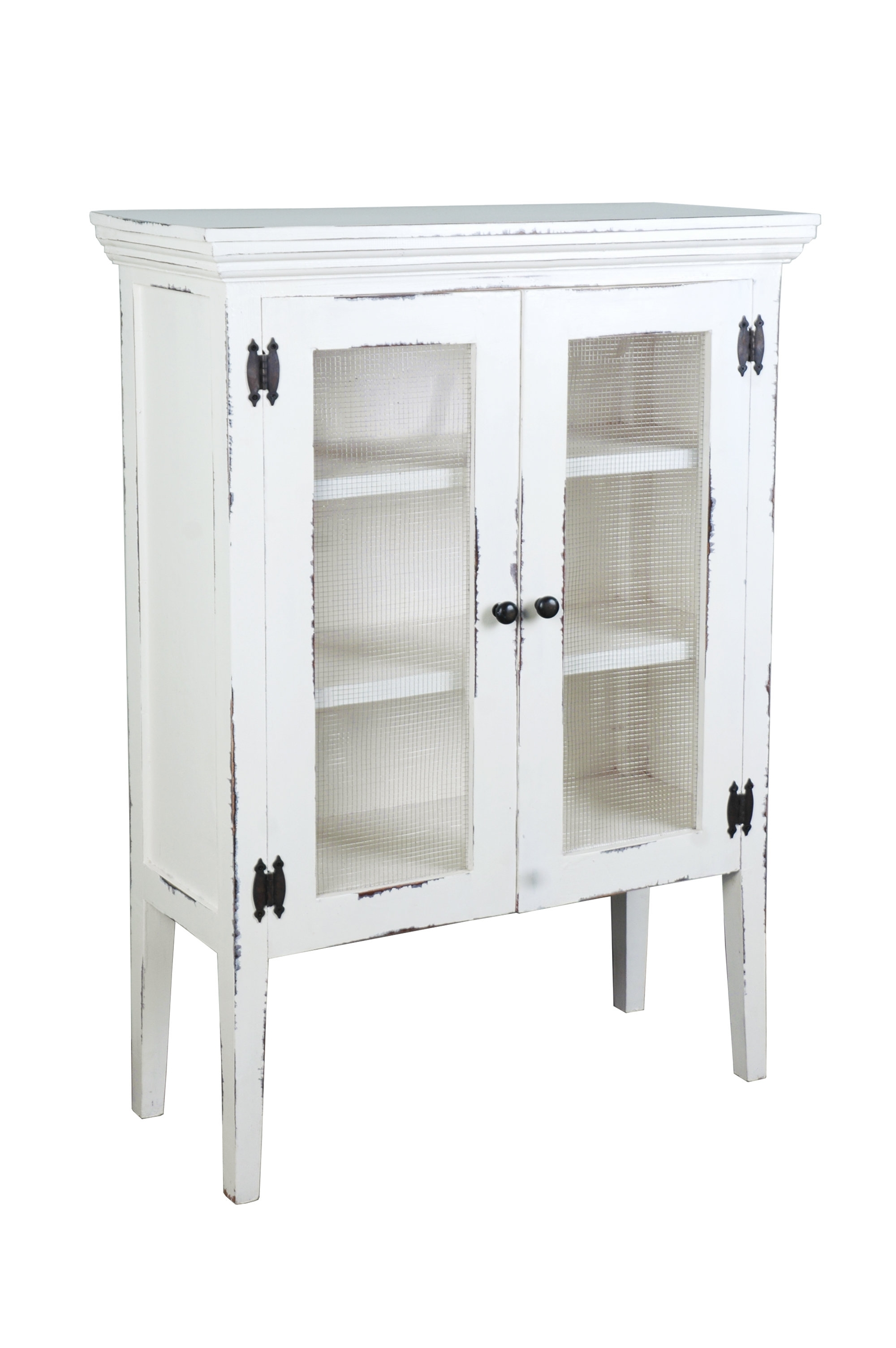 August Grove Luz 2 Door Accent Cabinet | Wayfair pertaining to White Wash 4-Door Galvanized Sideboards (Image 2 of 30)