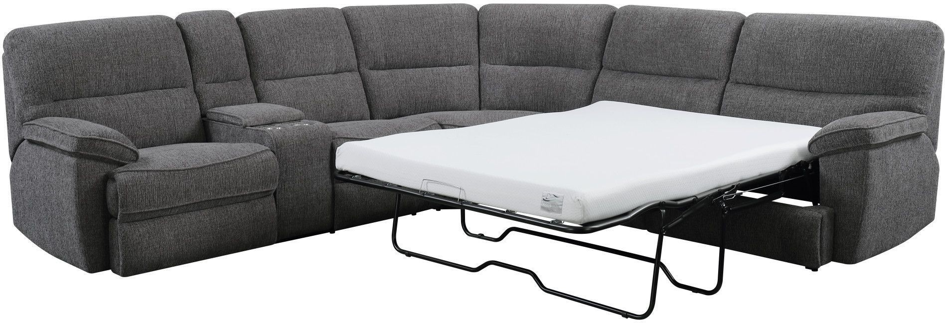 Aurora Platinum 3 Piece Power Reclining Sleeper Sectional From within Aurora 2 Piece Sectionals (Image 7 of 30)