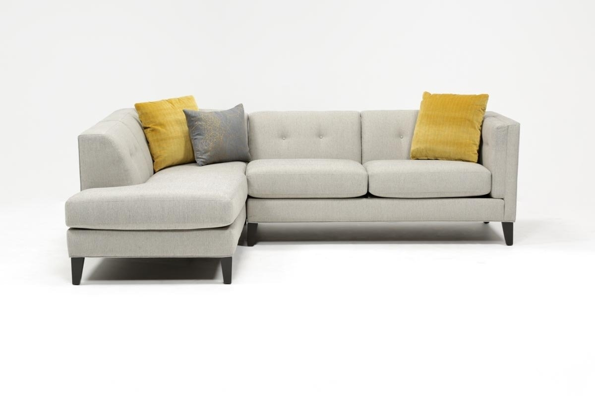 Avery 2 Piece Sectional W/laf Armless Chaise | Living Spaces pertaining to Avery 2 Piece Sectionals With Laf Armless Chaise (Image 4 of 30)