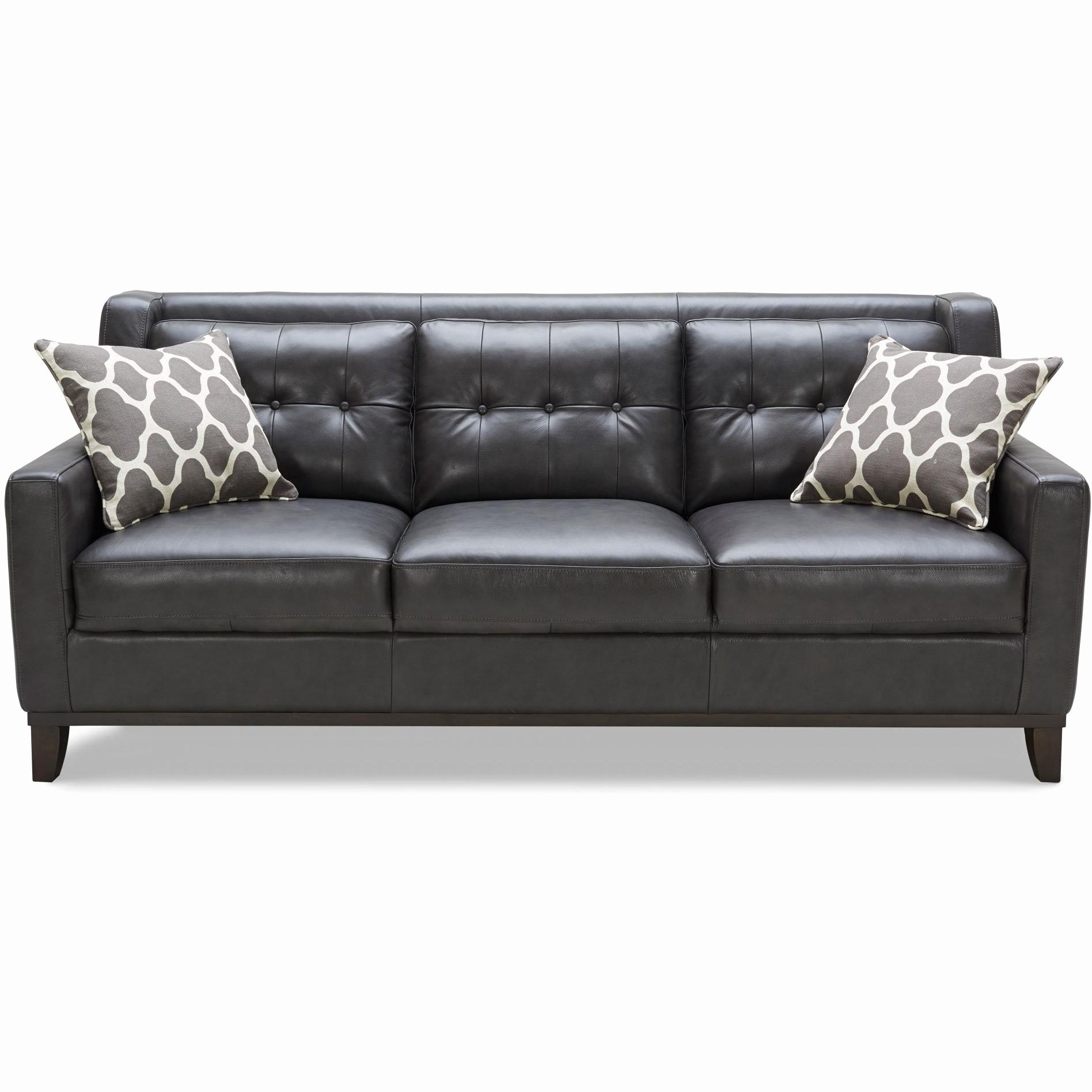 Awesome White Contemporary Leather Sofa Shot A Leather Sofa For Your inside Denali Light Grey 6 Piece Reclining Sectionals With 2 Power Headrests (Image 5 of 30)