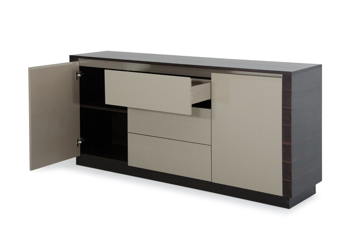A&x Caligari Modern Oak & Grey Gloss Buffet | Modern Buffets On Sale with regard to Amos Buffet Sideboards (Image 2 of 30)