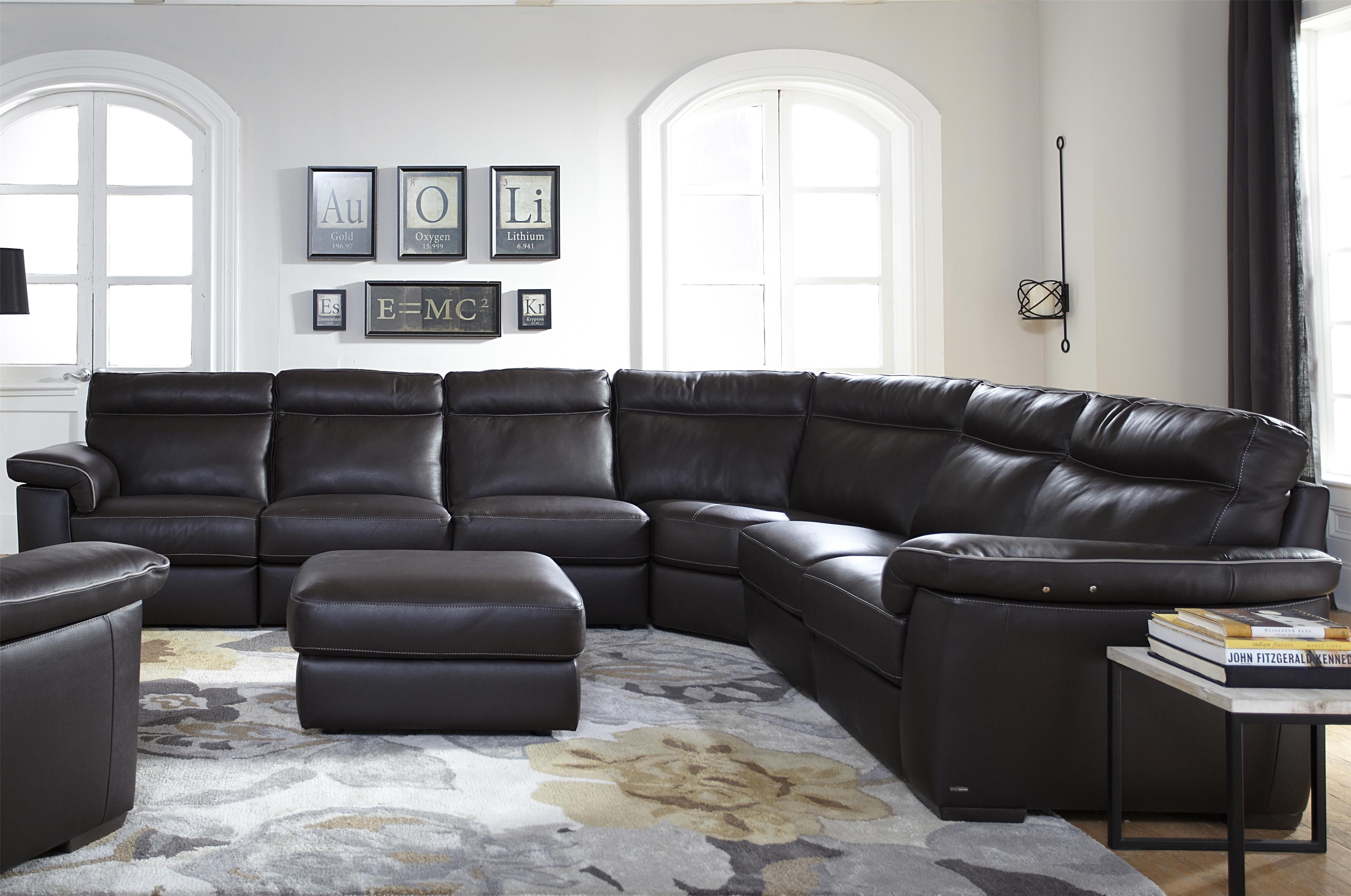 B757 Four Piece Power Reclining Sectional Sofa With Padded Headrests with regard to Blaine 3 Piece Sectionals (Image 7 of 30)