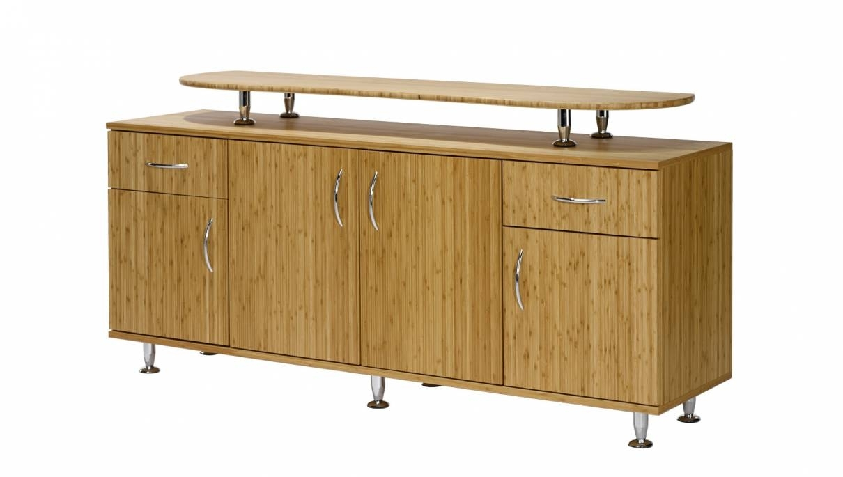 Bamboo Design Sideboard With Doors, 2 Drawers And Add-On Top intended for Diamond Circle Sideboards (Image 2 of 30)