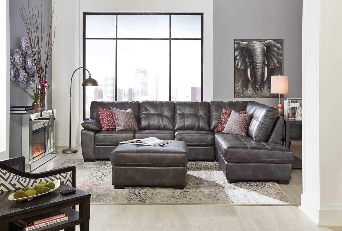 Bannon Grey 2 Pc Sectional | Badcock &more in Cosmos Grey 2 Piece Sectionals With Laf Chaise (Image 3 of 30)