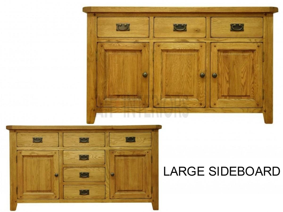Barcelona Oak Furniture Stm Large Sideboard inside 3-Drawer/2-Door White Wash Sideboards (Image 1 of 30)