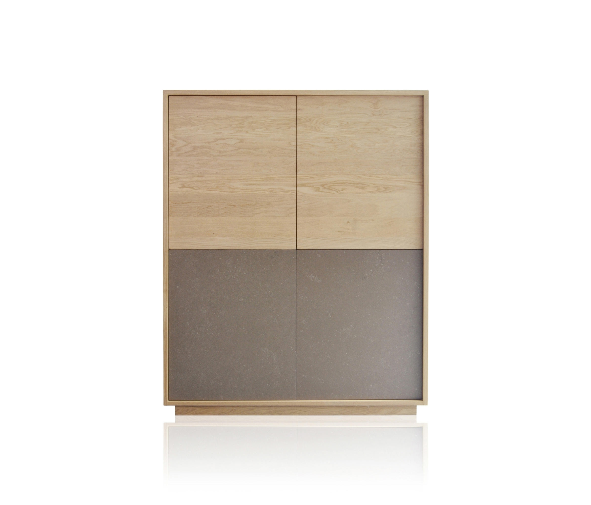 Basic 4 Door Module - Sideboards From Expormim | Architonic throughout 4 Door Wood Squares Sideboards (Image 3 of 30)