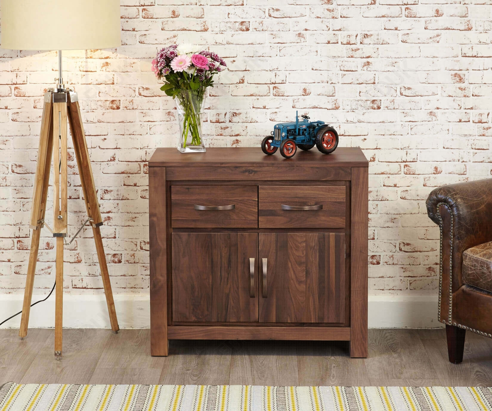 Baumhaus Mayan | Mayan Walnut Small Sideboard | Furnituredirectuk with Walnut Small Sideboards (Image 4 of 30)