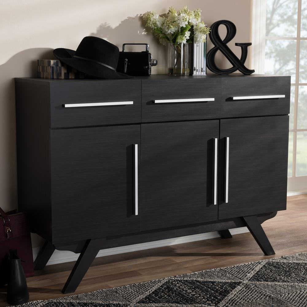 Baxton Studio Ashfield Dark Brown Sideboard-28862-7978-Hd - The Home within Black Oak Wood and Wrought Iron Sideboards (Image 2 of 30)