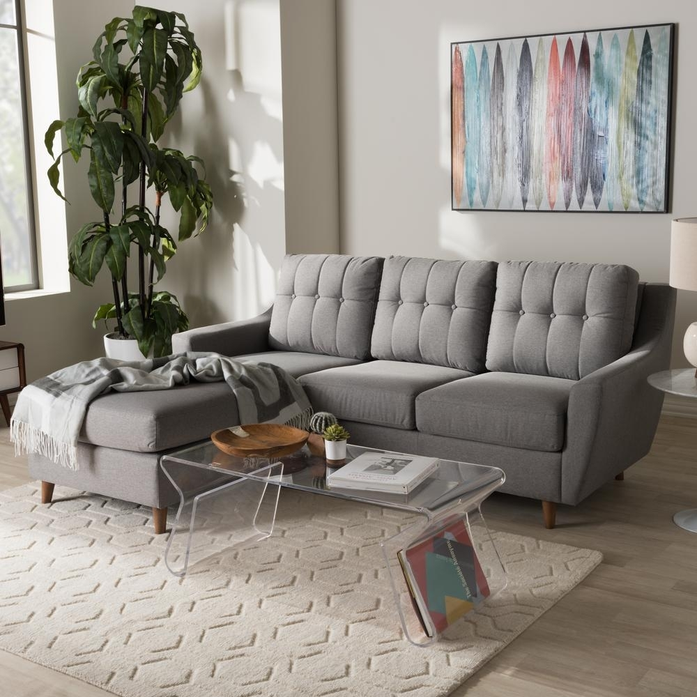 Baxton Studio Mckenzie 2-Piece Contemporary Gray Fabric Upholstered for Jobs Oat 2 Piece Sectionals With Left Facing Chaise (Image 3 of 30)
