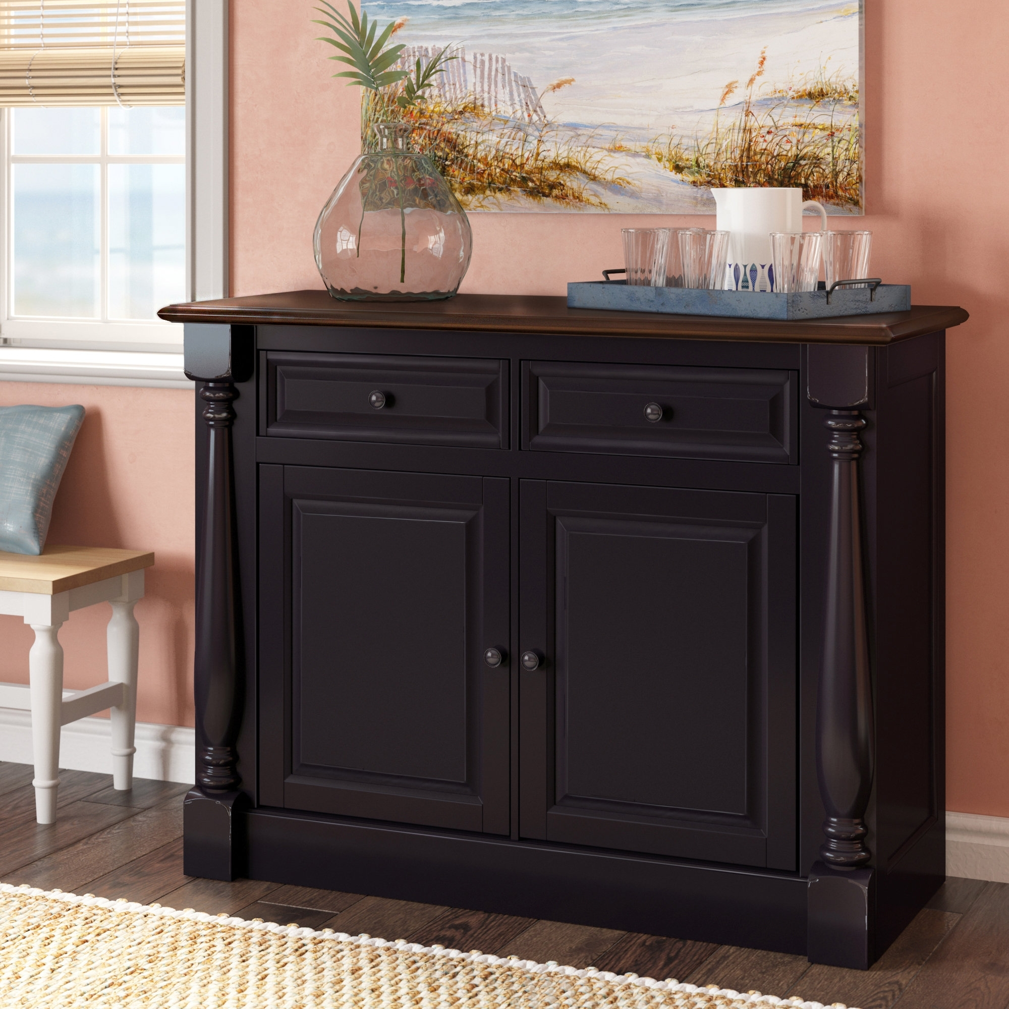 Beachcrest Home Kivalina Server & Reviews | Wayfair within Calhoun Sideboards (Image 2 of 30)