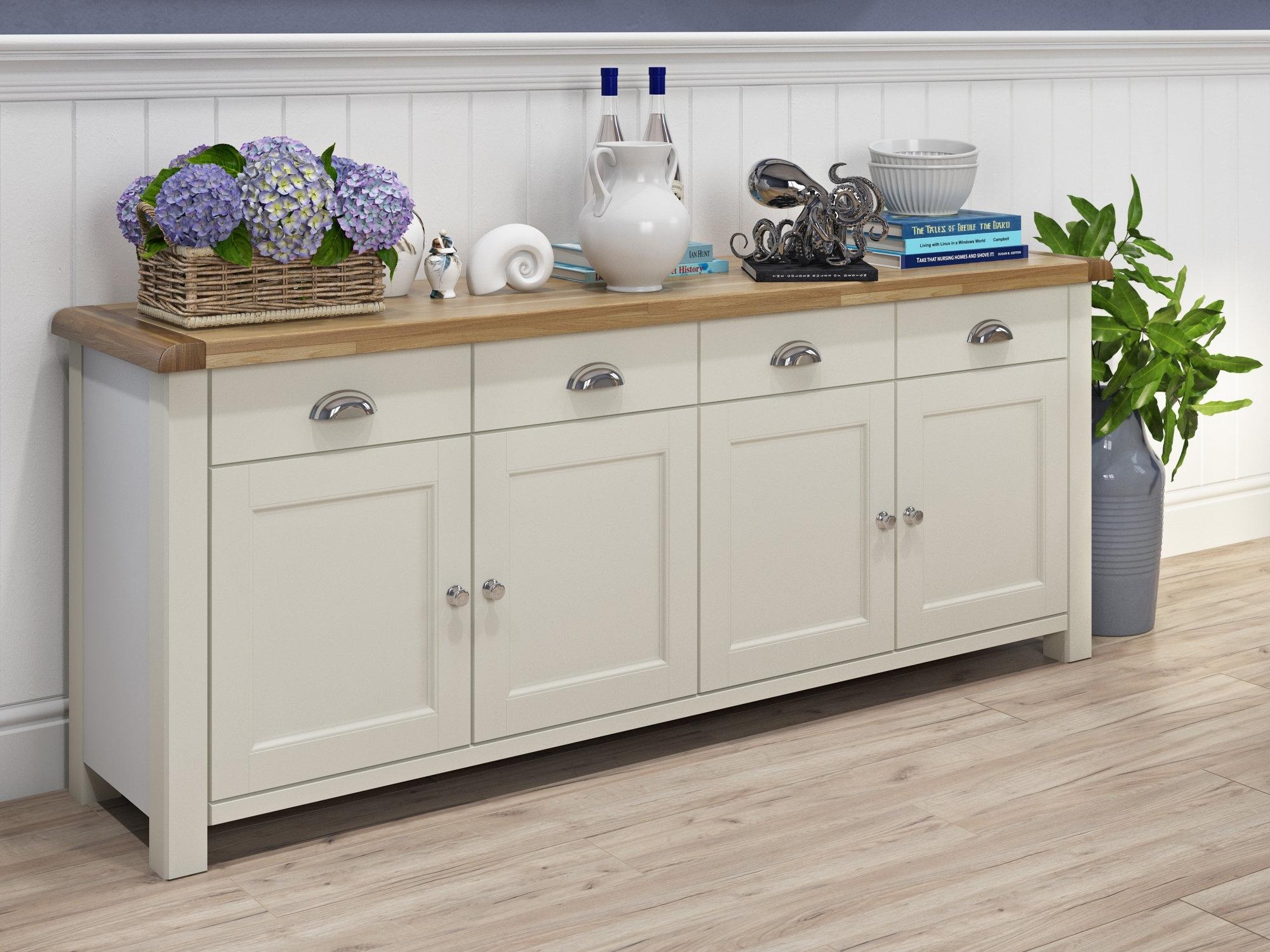 Beachcrest Home Sanford Sideboard & Reviews | Wayfair.co.uk regarding 4-Door 4-Drawer Metal Inserts Sideboards (Image 3 of 30)