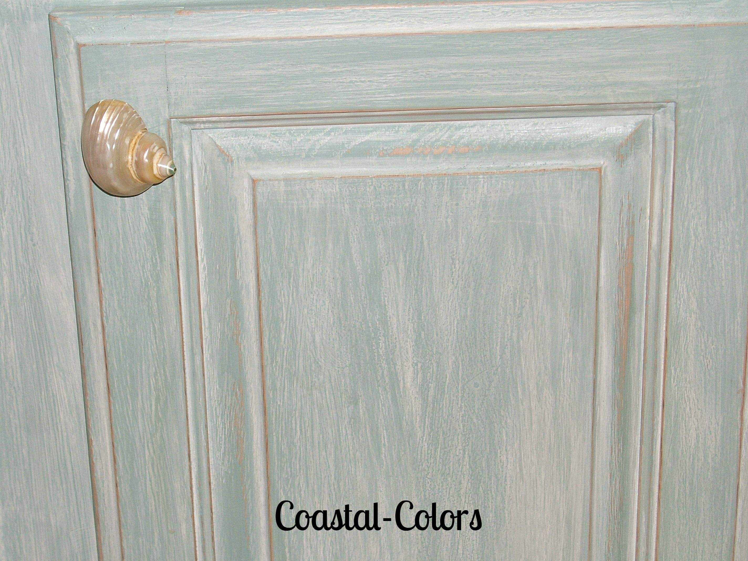 Beachy Chalk Painted Cabinets With A Color Wash- | Painted Furniture within Hartigan 2-Door Sideboards (Image 7 of 30)