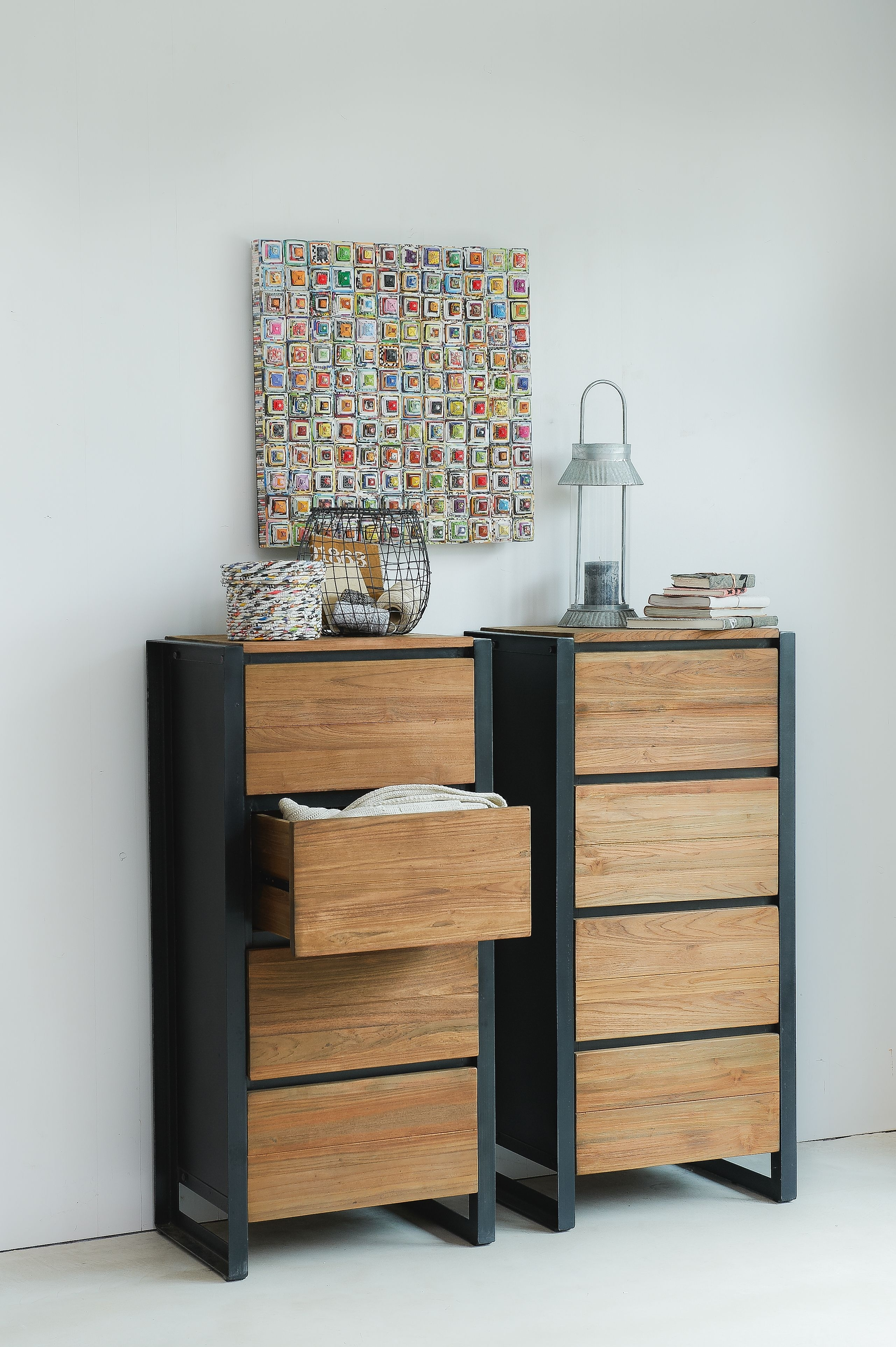 Beautiful Drawers Dressers Made From Reclaimed Wood With Iron Frames within Metal Framed Reclaimed Wood Sideboards (Image 2 of 30)