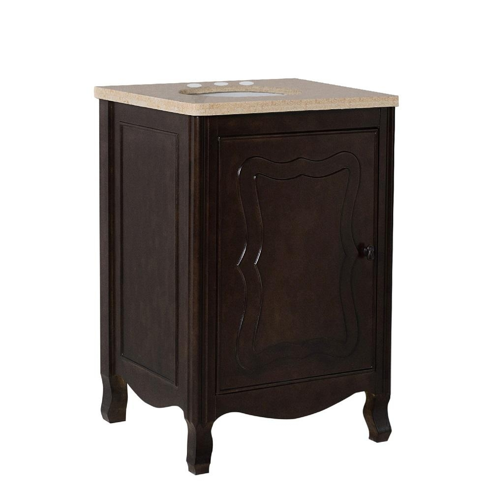 Bellaterra Home Moraga 24 In. W X 22 In. D X 36 In. H Single Vanity inside Moraga Live Edge 8 Door Sideboards (Image 13 of 30)