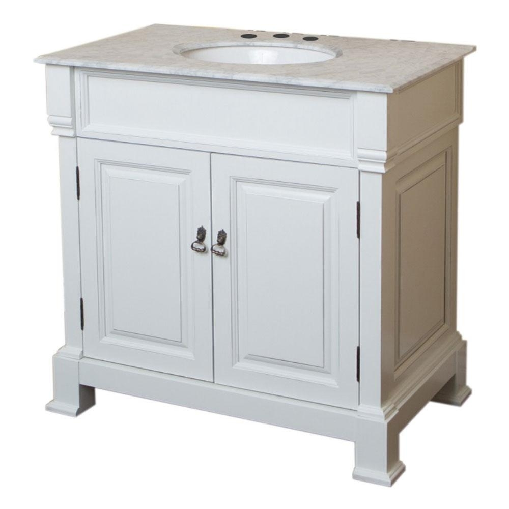 Bellaterra Home Sereno 30 In. W X 22 In. D X 36 In. H Single Vanity with Moraga Live Edge 8 Door Sideboards (Image 15 of 30)