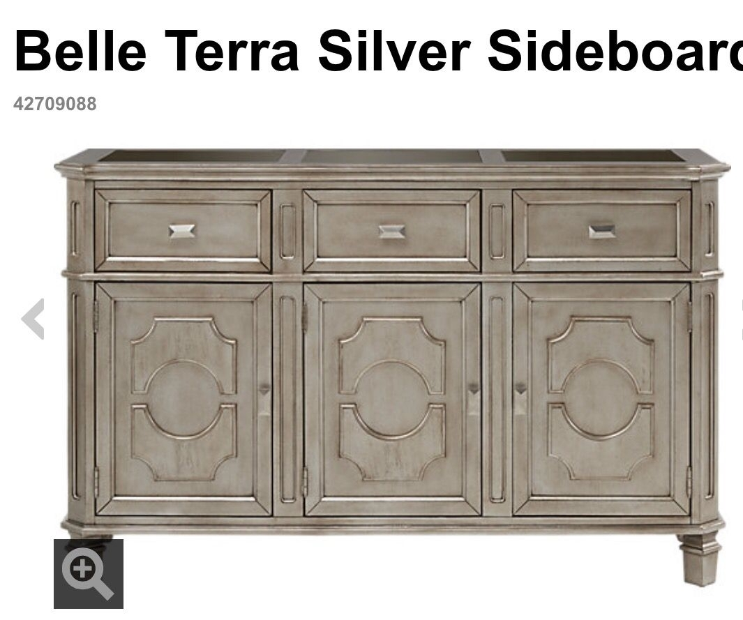 Belle Terra Silver Buffet / Sideboard From Rooms To Go | Dining Room With Cass 2 Door Sideboards (View 3 of 30)