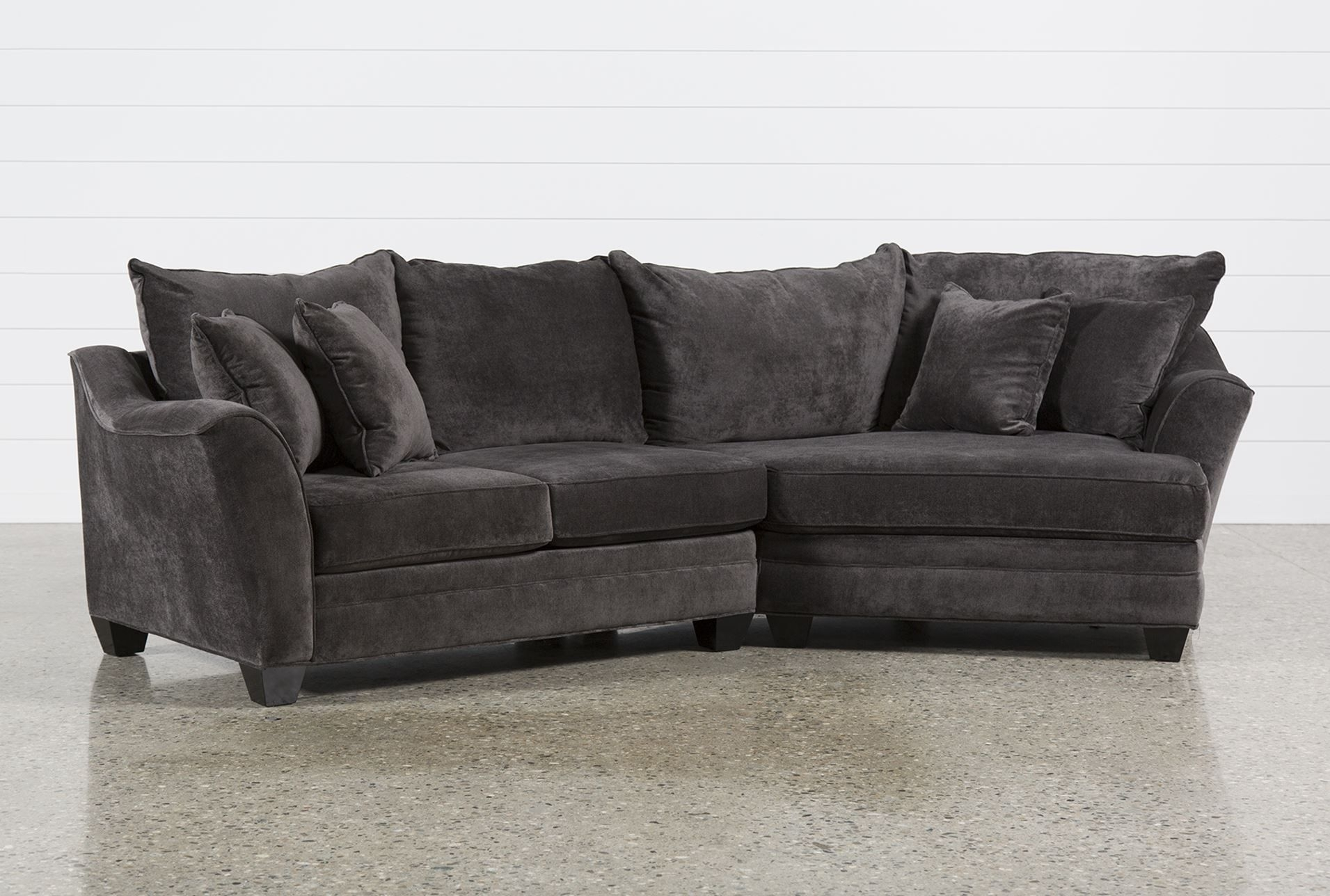 Belleview Graphite 2 Piece Sectional W/raf Cuddler - Dream Couch within Evan 2 Piece Sectionals With Raf Chaise (Image 6 of 30)