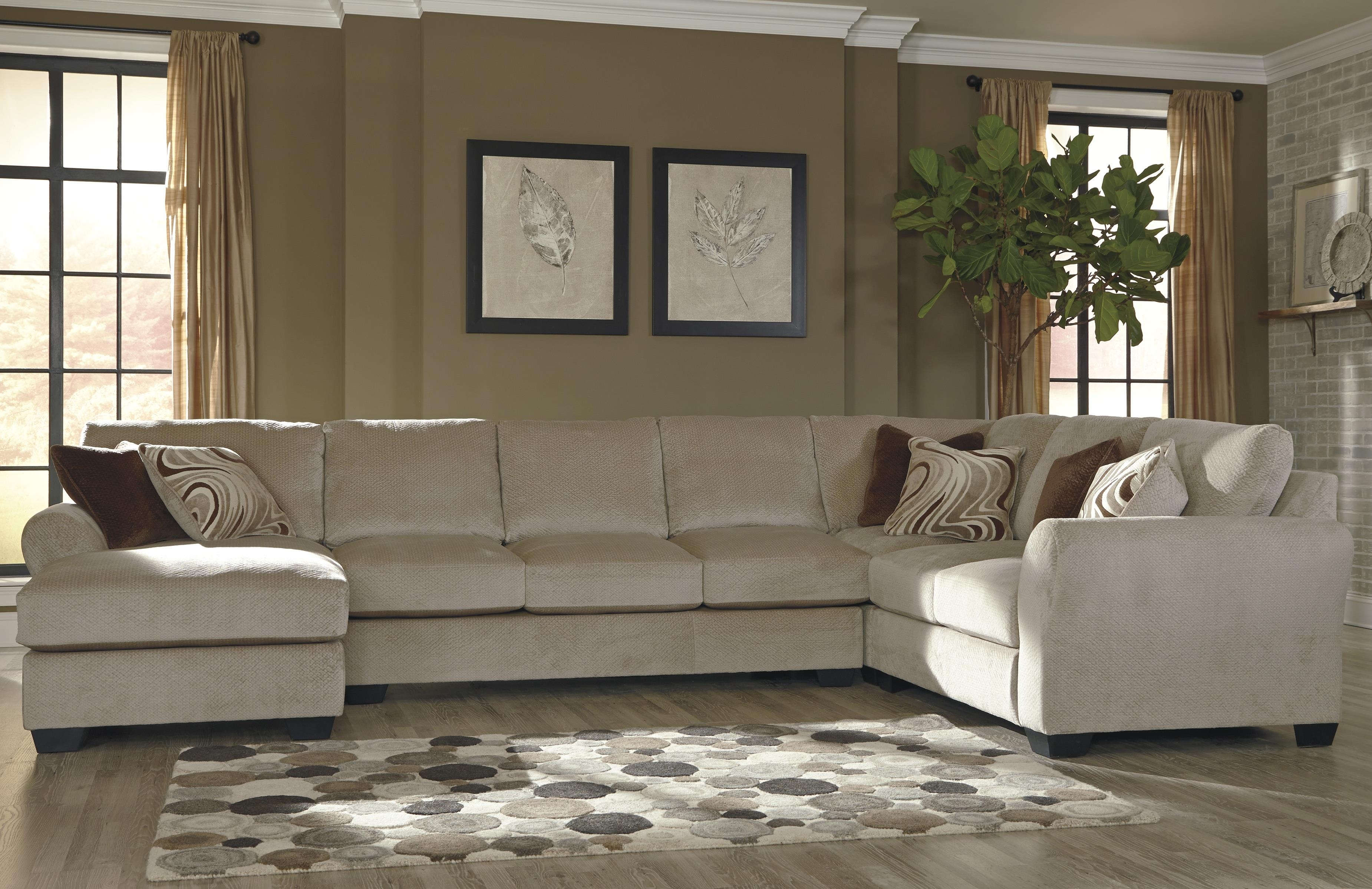 Benchcraft Hazes 4 Piece Sectional W/ Armless Sofa & Chaise In Sierra Down 3 Piece Sectionals With Laf Chaise (View 4 of 30)