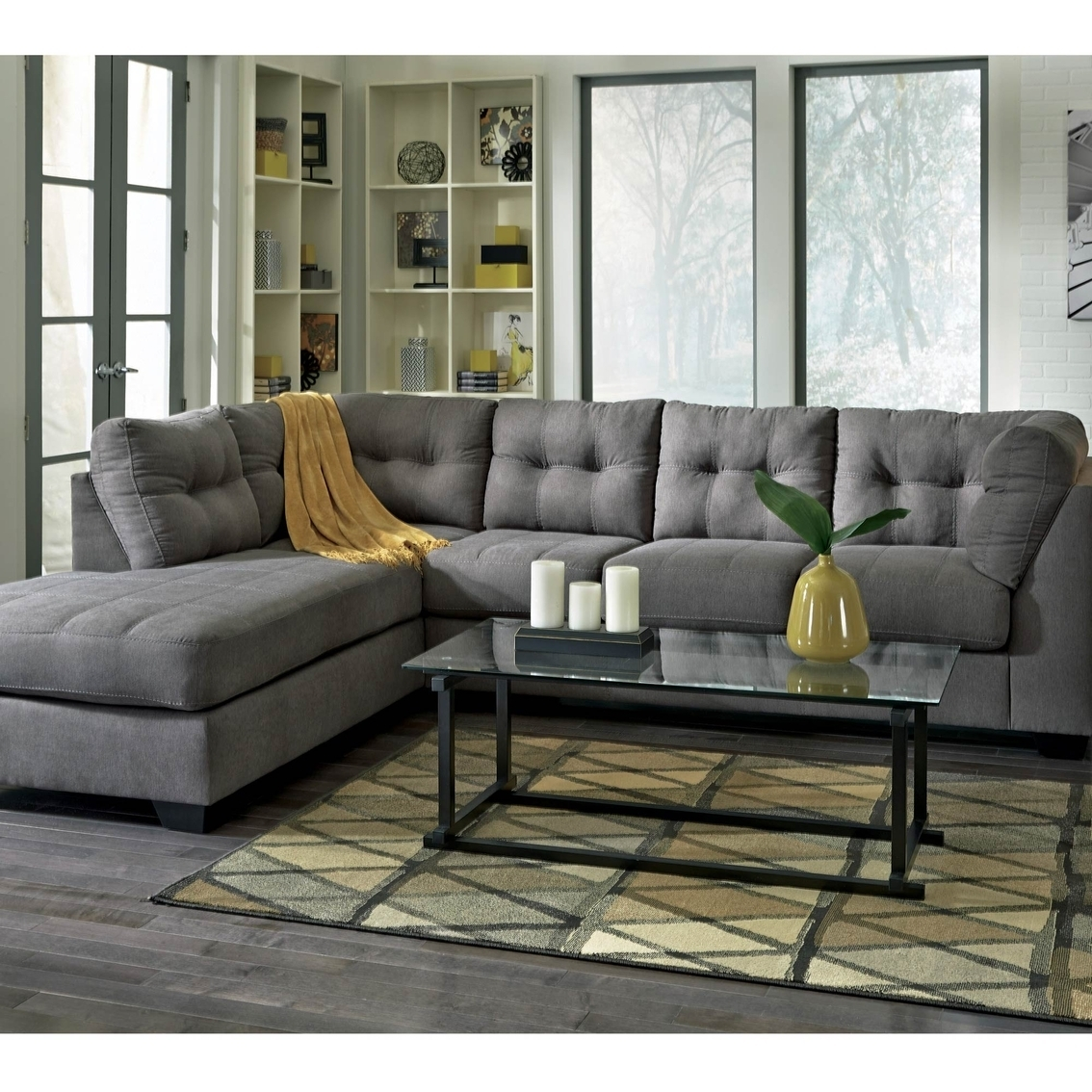 Benchcraft Maier 2 Pc. Sectional Sofa With Left Corner Chaise with regard to Meyer 3 Piece Sectionals With Laf Chaise (Image 5 of 30)