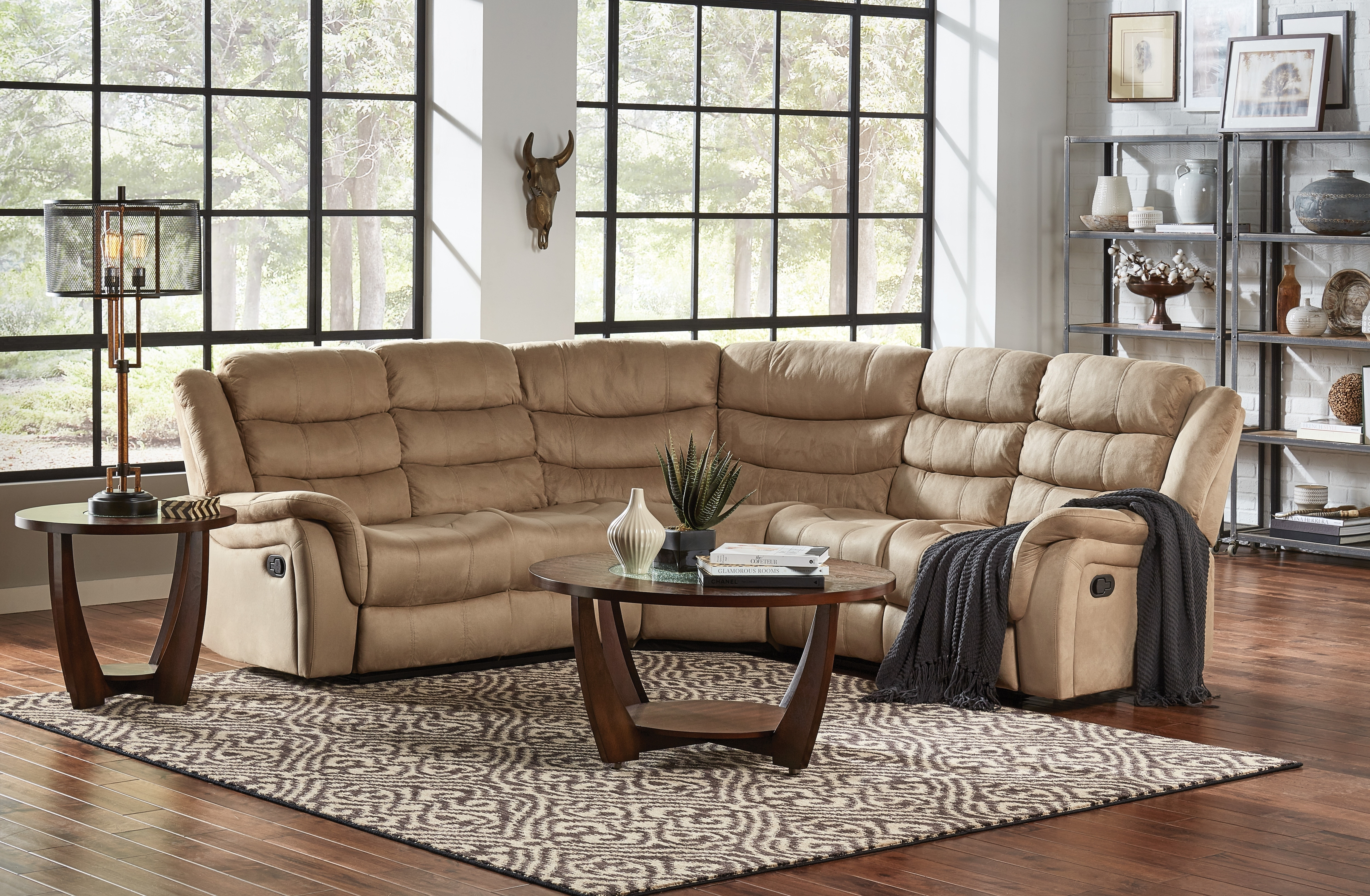 Benton 3Pc Reclining Sectional | in Glamour Ii 3 Piece Sectionals (Image 4 of 30)