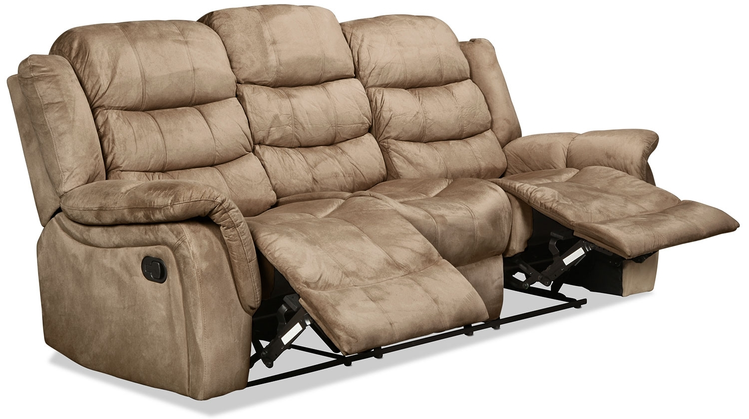 Benton Reclining Sofa - Cobblestone | in Benton 4 Piece Sectionals (Image 5 of 30)