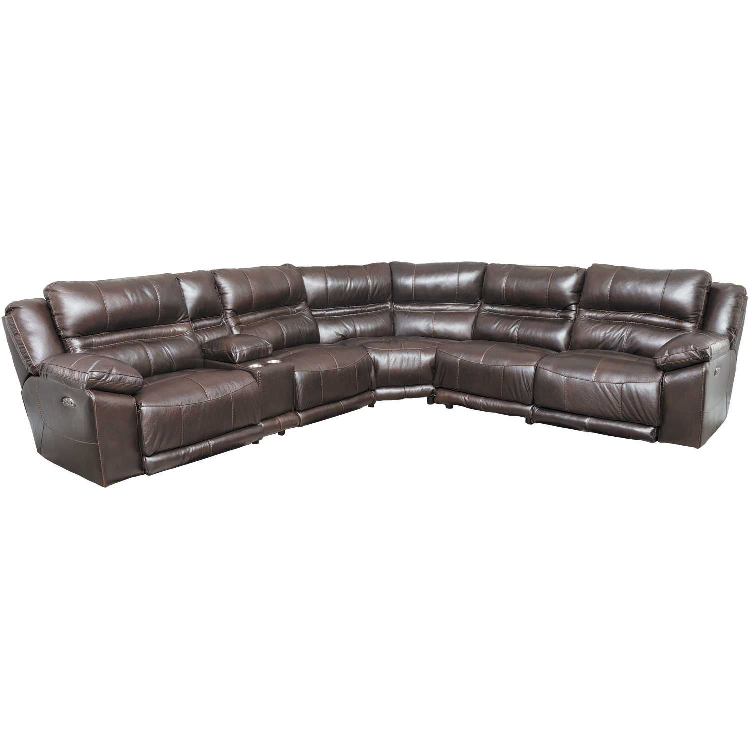 Bergamo 6 Piece Power Reclining Sectional W/ Adjustable Headrest throughout Jackson 6 Piece Power Reclining Sectionals With  Sleeper (Image 2 of 30)