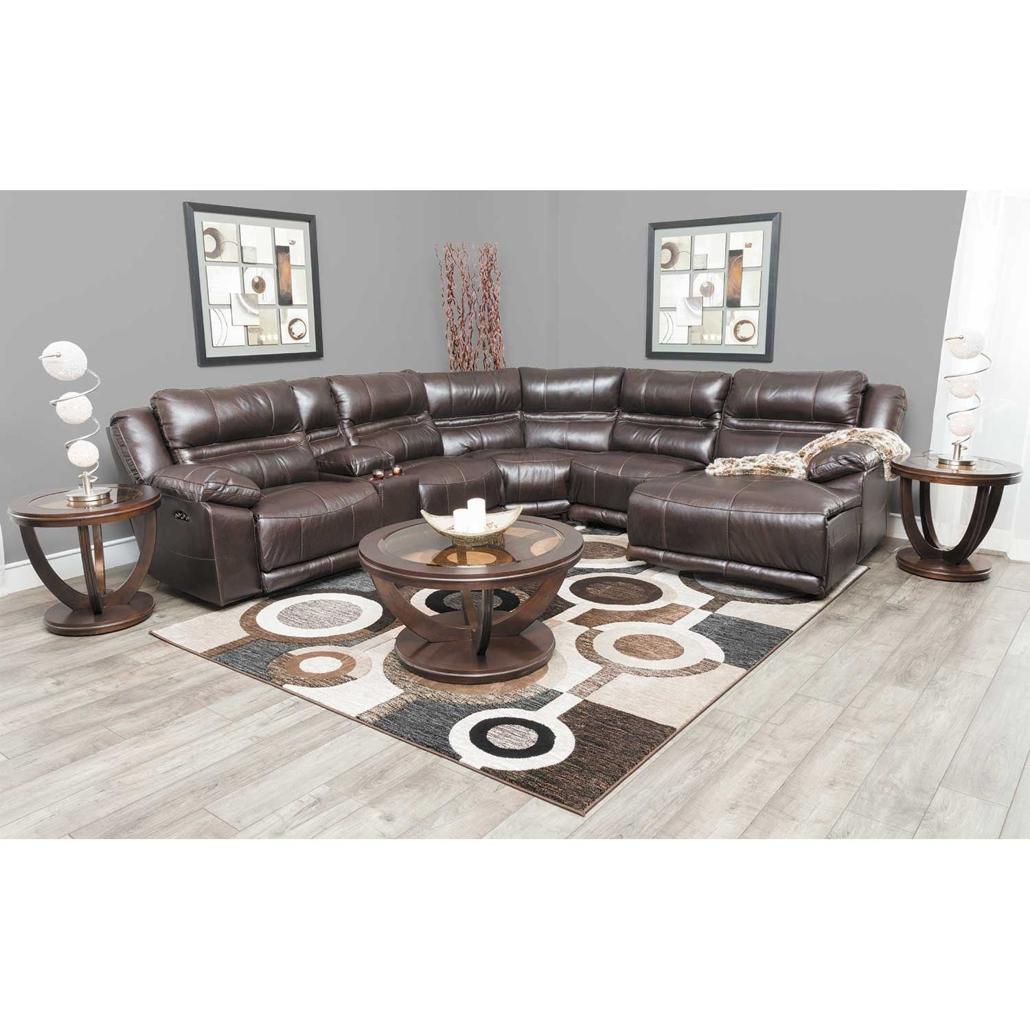 Bergamo 6 Piece Power Reclining Sectional With Adjustable Headrest with Jackson 6 Piece Power Reclining Sectionals With  Sleeper (Image 3 of 30)