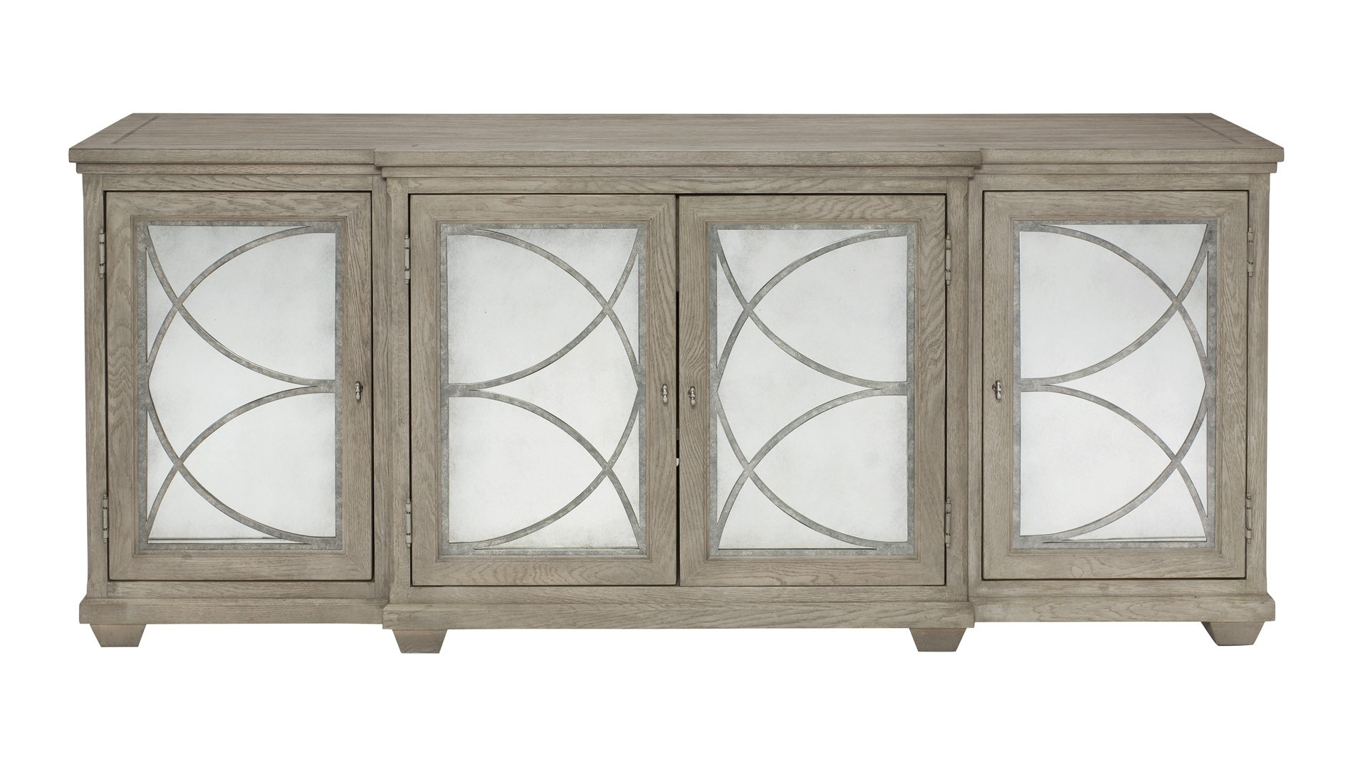 Bernhardt, Marquesa Sideboard - Antique Mirror, Buy Online At Luxdeco pertaining to Aged Mirrored 4 Door Sideboards (Image 9 of 30)