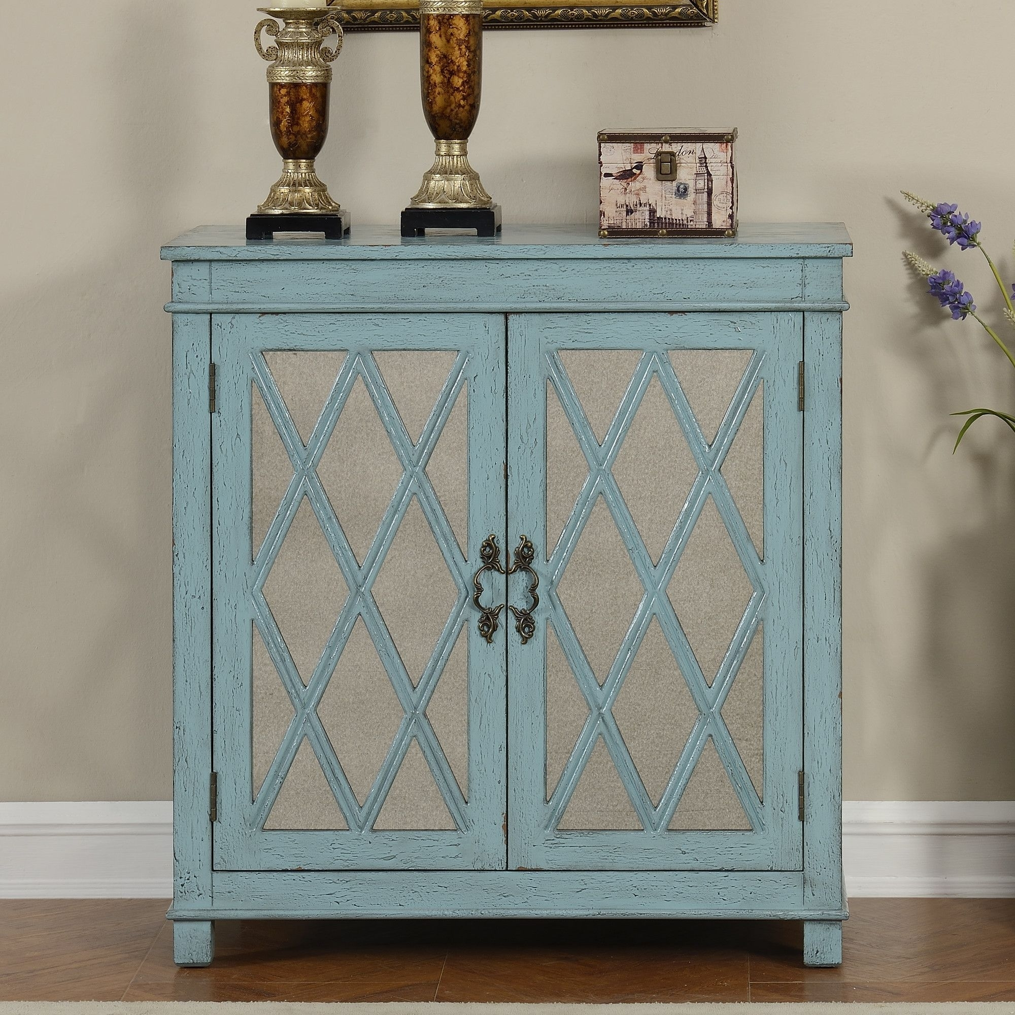 Bernoussi 2 Door Accent Cabinet | Products | Pinterest | Products intended for 2-Door Mirror Front Sideboards (Image 6 of 30)
