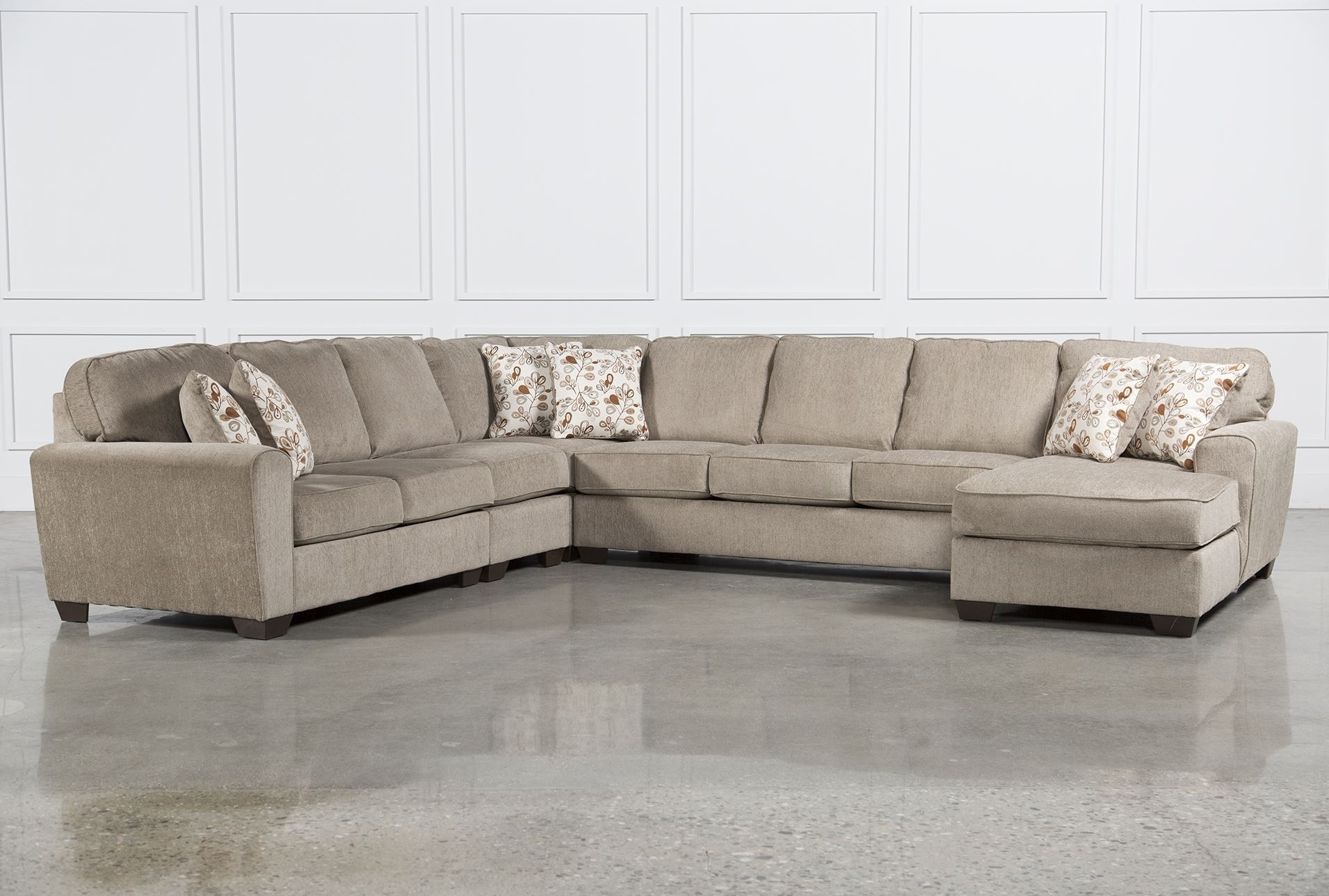Best Ideas Of Raf Chaise In Patola Park 5 Piece Sectional W Raf within Norfolk Chocolate 3 Piece Sectionals With Raf Chaise (Image 3 of 30)