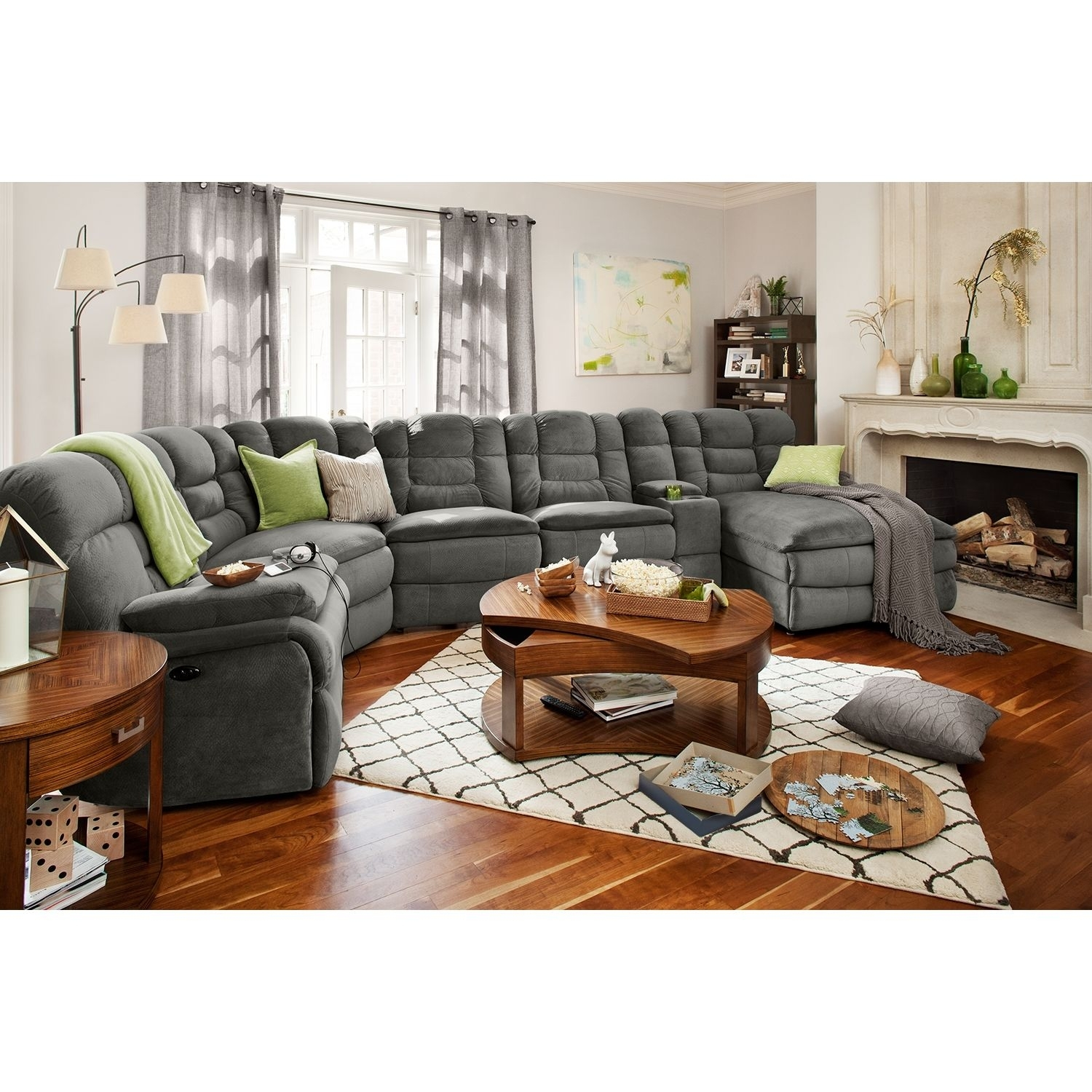 Big Softie 6-Piece Power Reclining Sectional With Right-Facing with regard to Jackson 6 Piece Power Reclining Sectionals With  Sleeper (Image 4 of 30)