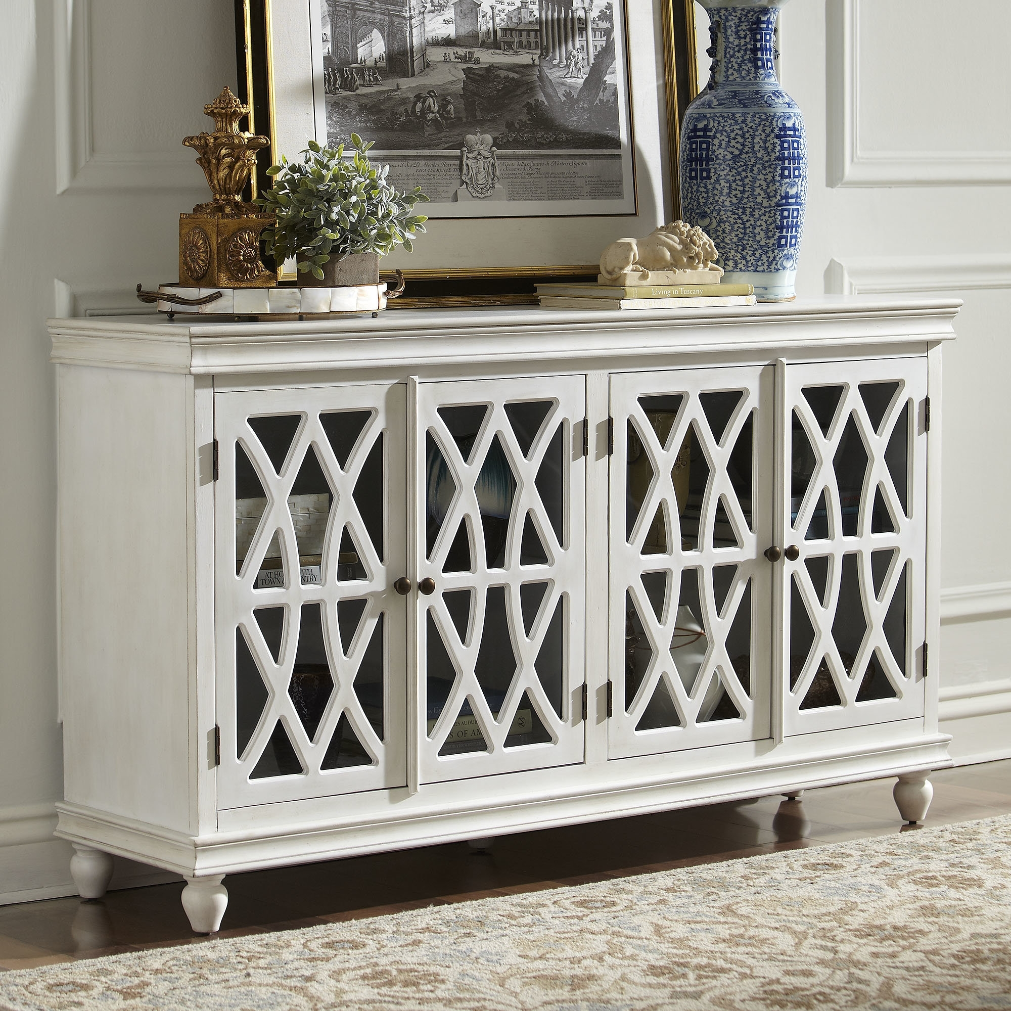 Birch Lane™ Colgrove Sideboard & Reviews | Birch Lane in Vintage Finish 4-Door Sideboards (Image 3 of 30)