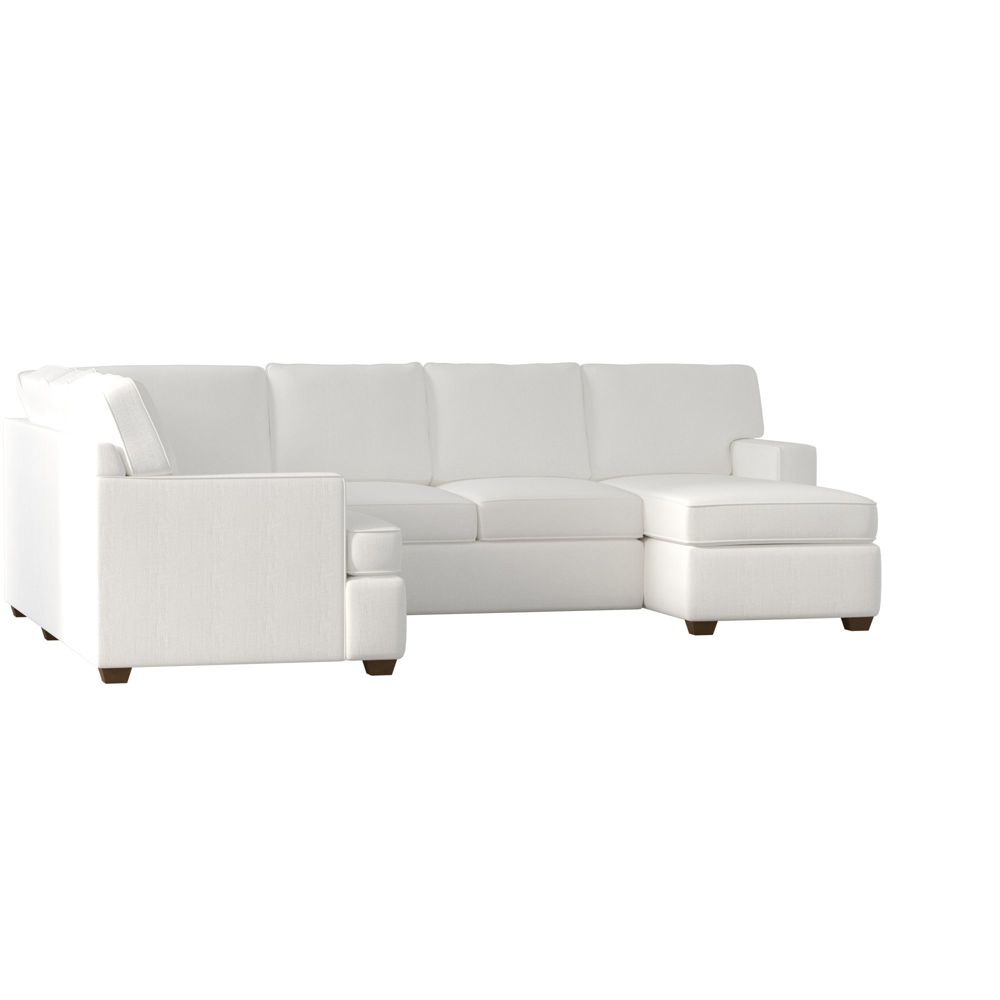 Birch Lane™ Evanston Sectional & Reviews | Birch Lane regarding Karen 3 Piece Sectionals (Image 4 of 30)