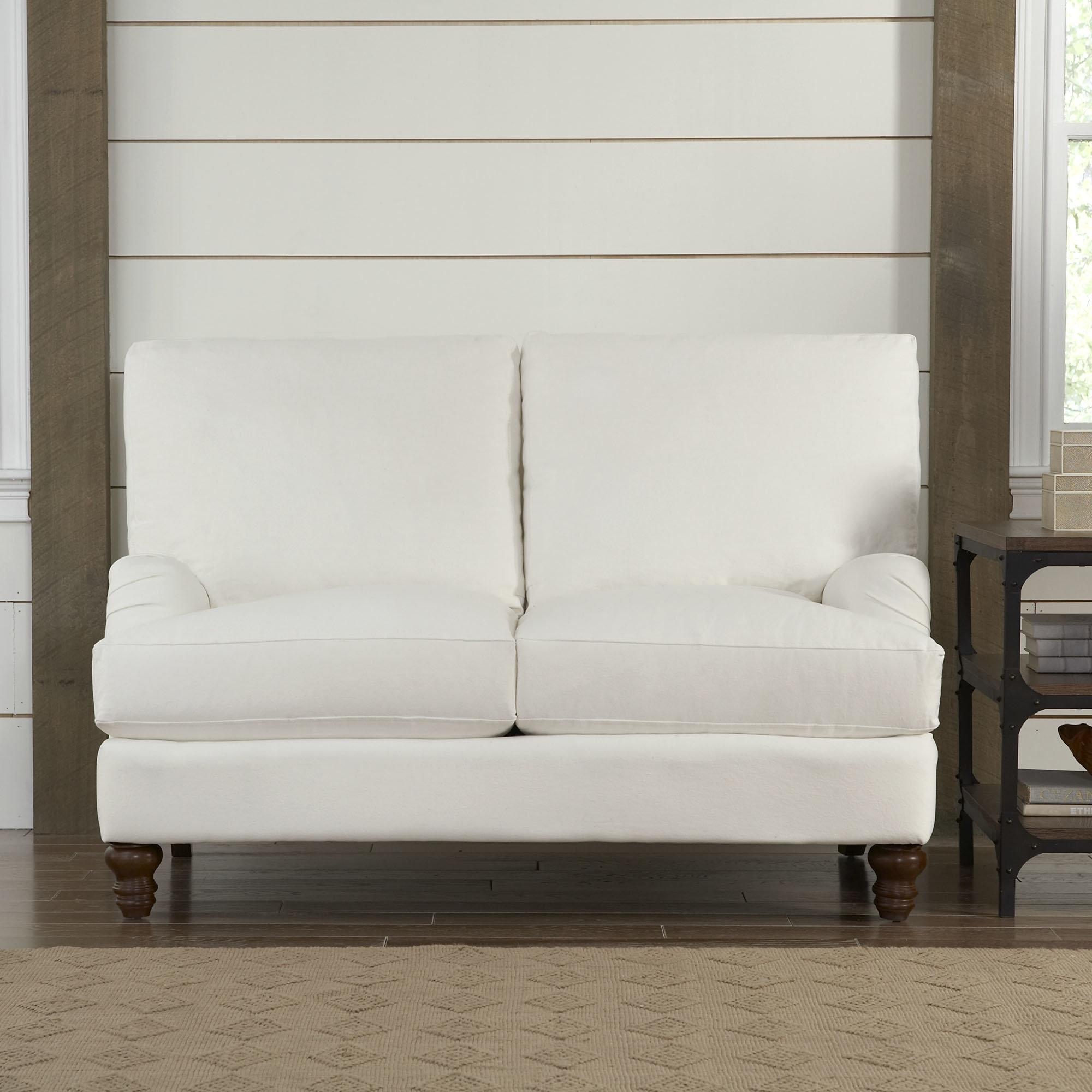 Birch Lane™ Montgomery Upholstered Loveseat & Reviews | Birch Lane for London Optical Reversible Sofa Chaise Sectionals (Image 3 of 30)