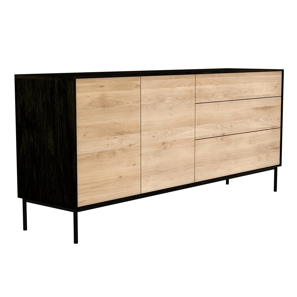 Blackbird Sideboard – 2 Doors 3 Drawers – Rouse Home for 3-Drawer/2-Door Sideboards (Image 2 of 30)