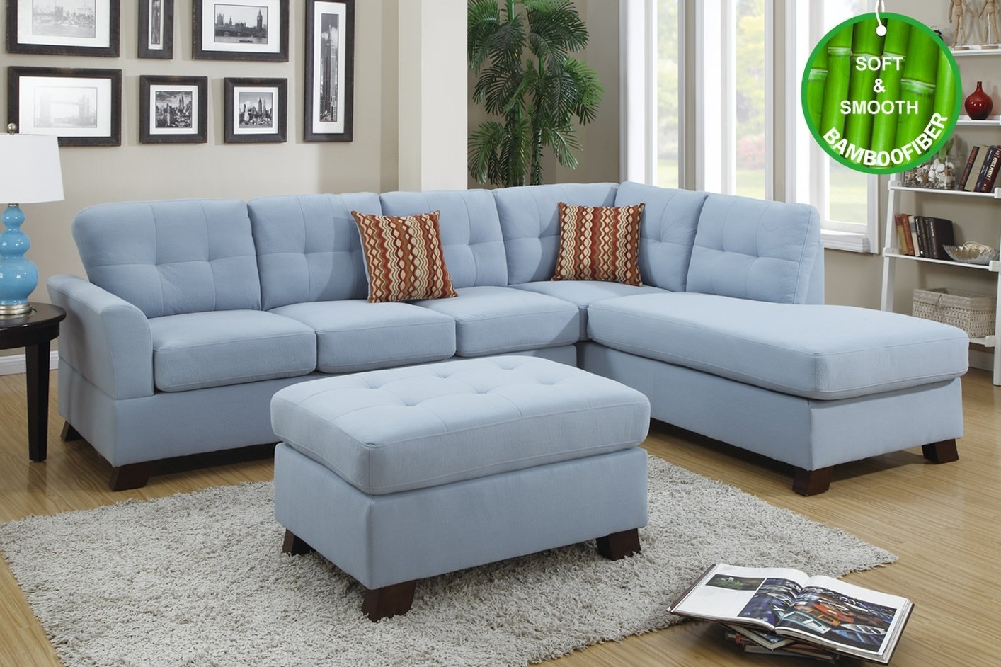 Blue Sectional Sofa Coaster Keaton Transitional Five Piece With throughout Benton 4 Piece Sectionals (Image 6 of 30)
