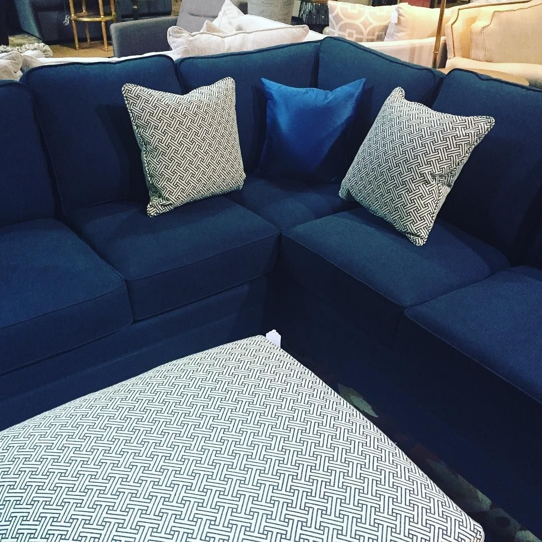 Blue #sectional #sofa | Small Blue Sectional Sofas | Pinterest pertaining to Haven Blue Steel 3 Piece Sectionals (Image 5 of 30)