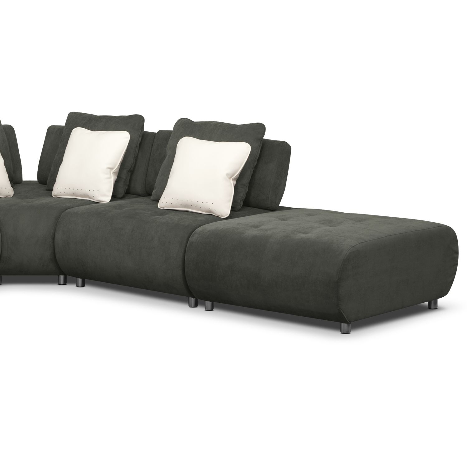 Bongo 5-Piece Sectional | Value City Furniture | Living Room in Marcus Chocolate 6 Piece Sectionals With Power Headrest And Usb (Image 4 of 30)