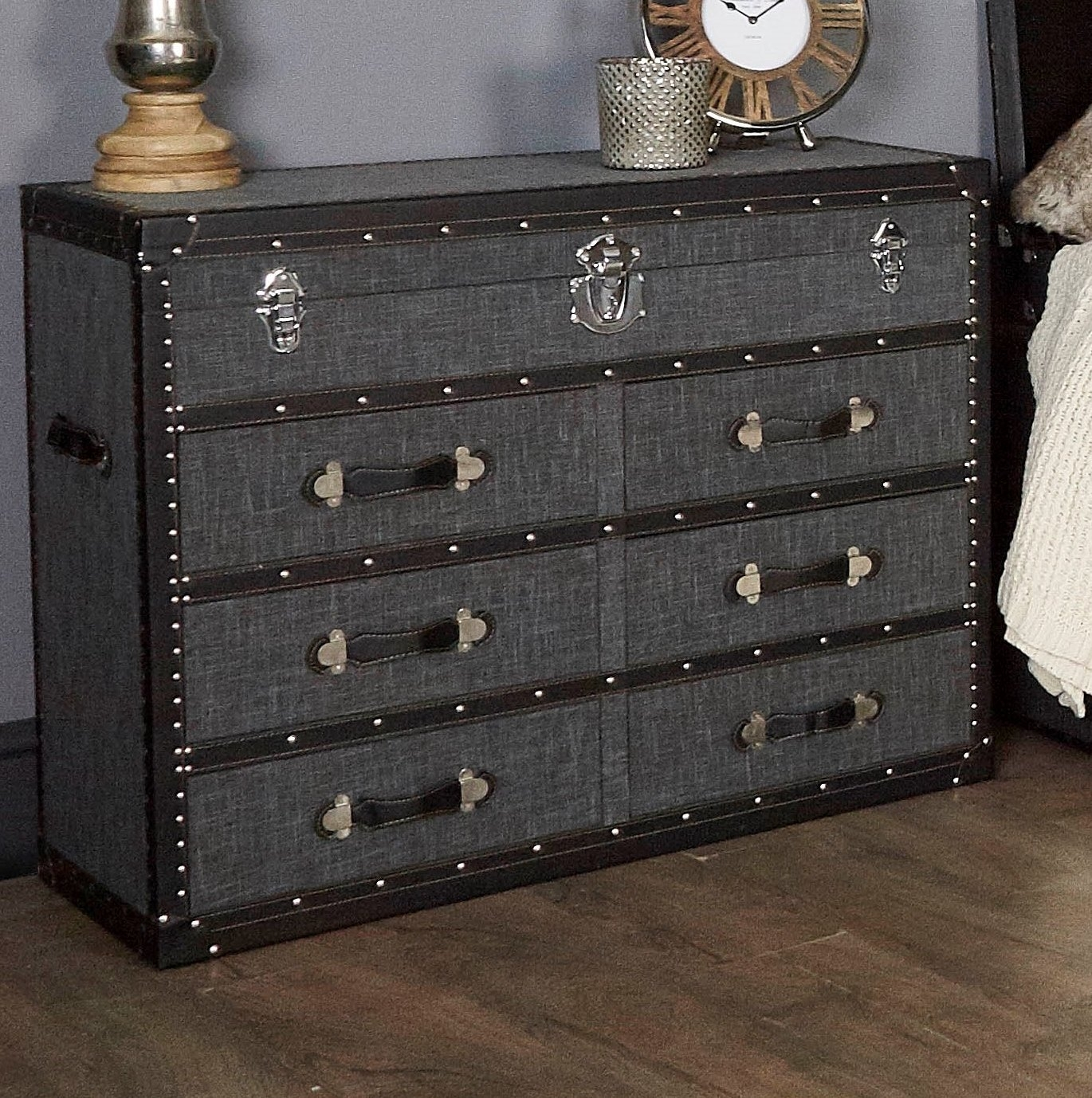 Borough Wharf Casimir 6 Drawer Chest Of Drawers & Reviews | Wayfair within Leven Wine Sideboards (Image 4 of 30)