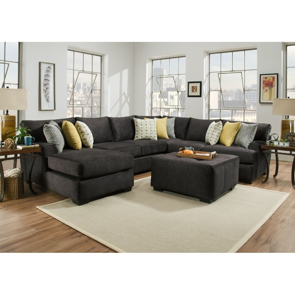 Boulevard Gray Sectional Corinthian - Blvdlsf3Pcsec | Conn's for Evan 2 Piece Sectionals With Raf Chaise (Image 6 of 30)