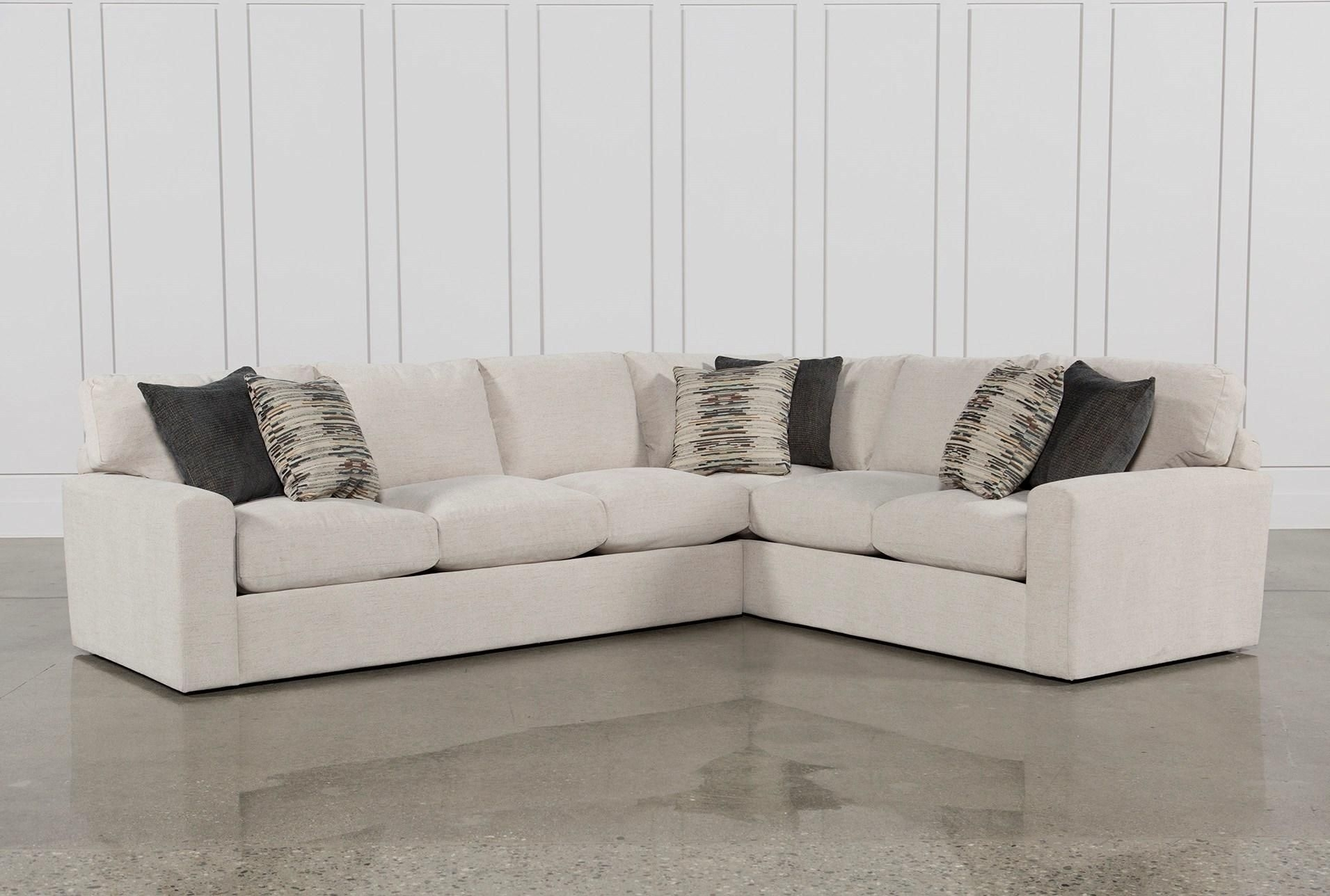Bowen 2 Piece Sectional, White, Sofas | Living Rooms, Sinks And Room inside Adeline 3 Piece Sectionals (Image 8 of 30)